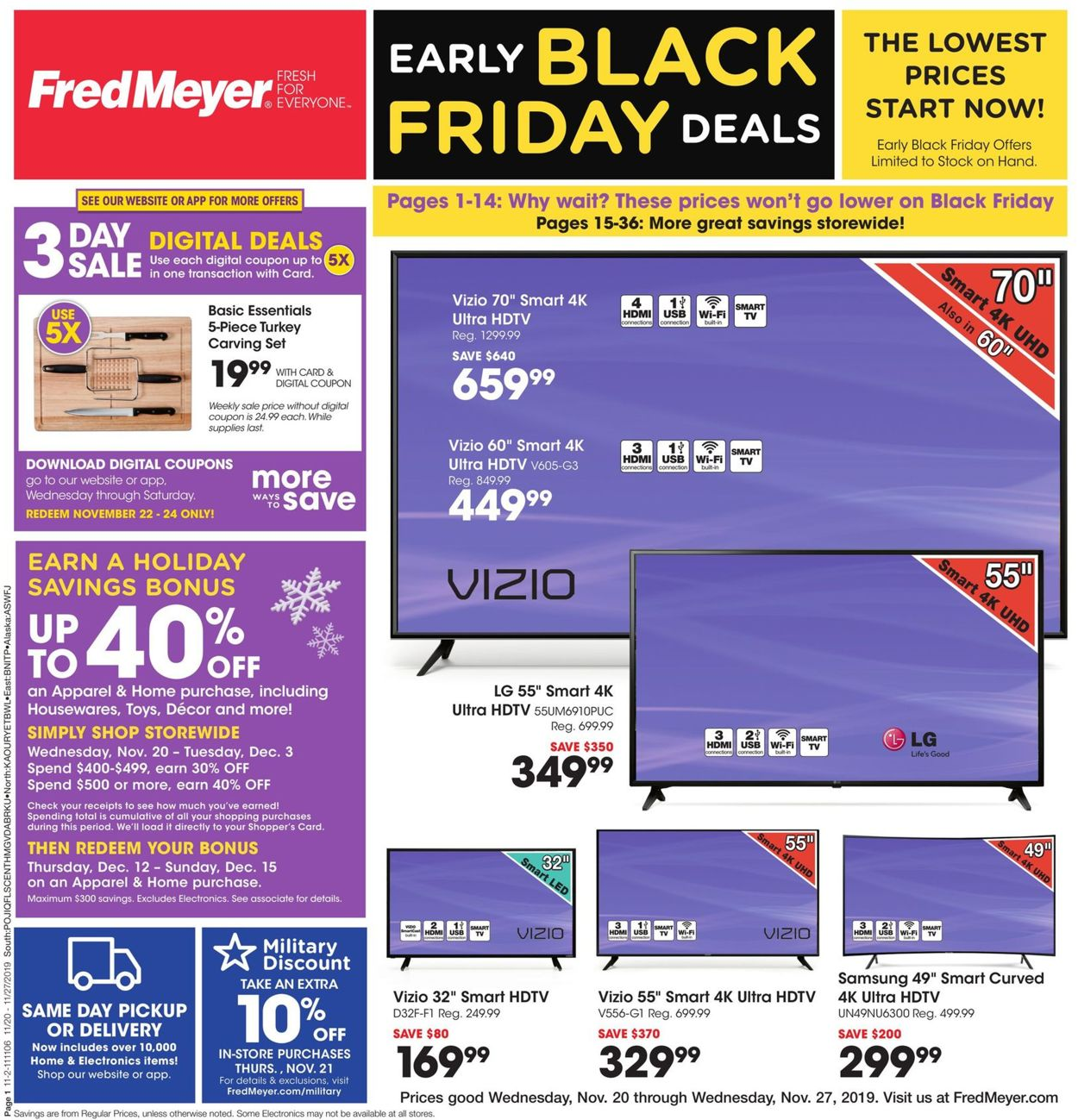 Pleasing Fred Meyer Black Friday Ad 2019 Current Weekly Ad 11 20 Inzonedesignstudio Interior Chair Design Inzonedesignstudiocom