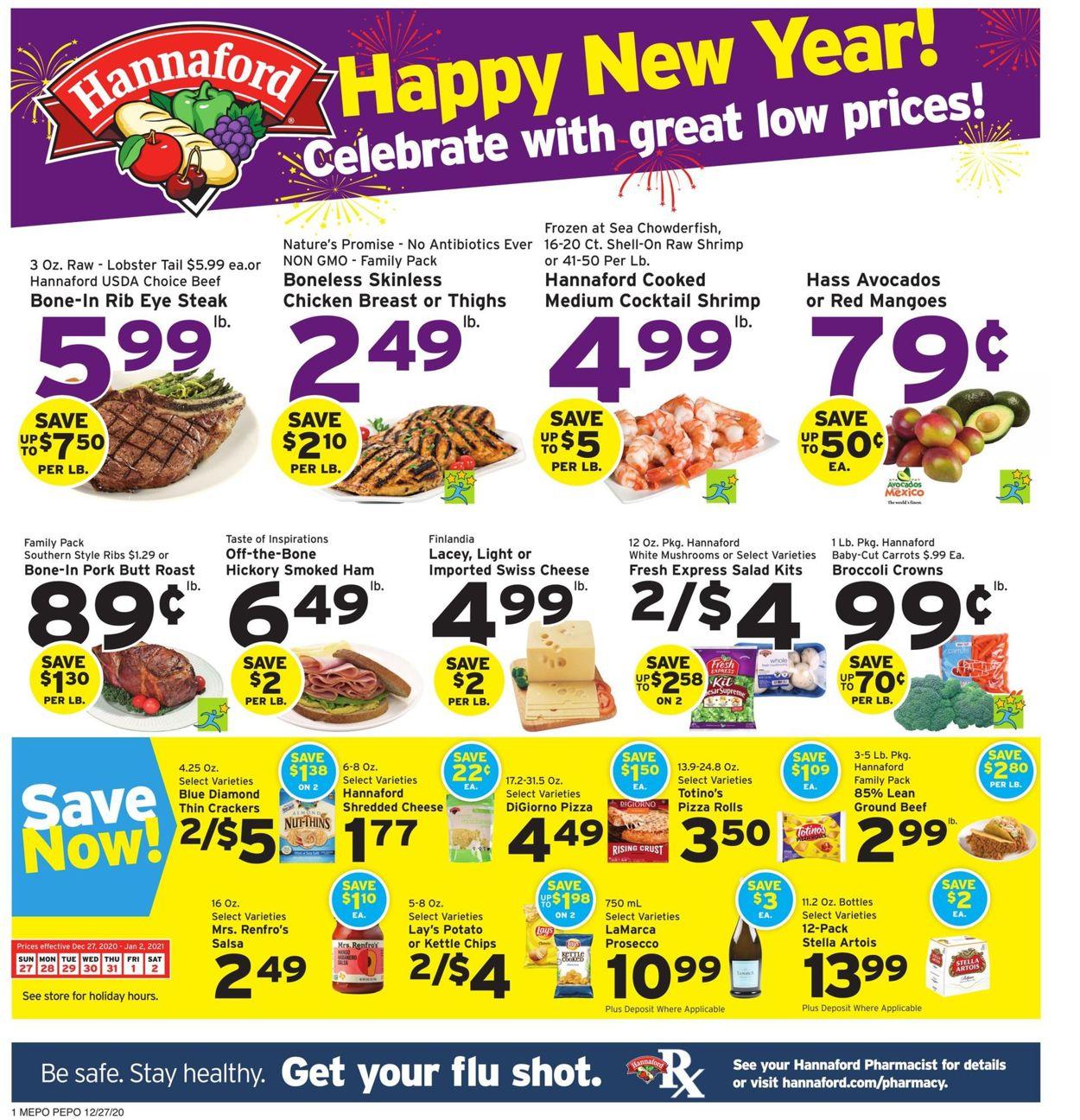 Catalogue Hannaford from 12/27/2020