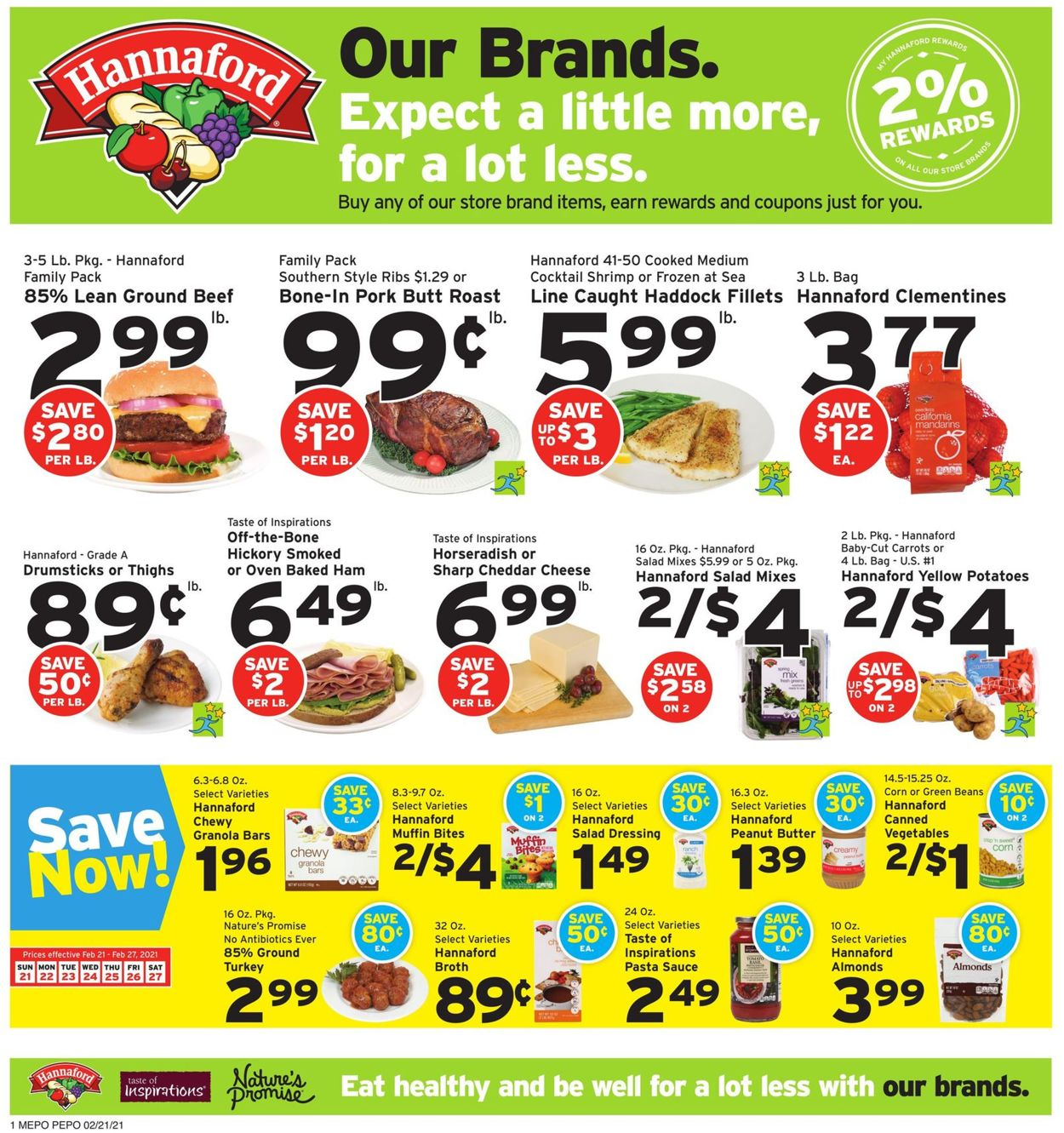 Catalogue Hannaford from 02/21/2021