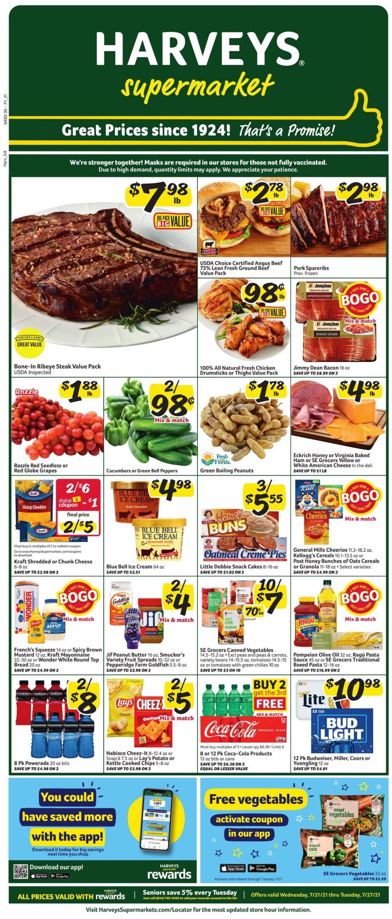 Catalogue Harveys Supermarket from 07/21/2021