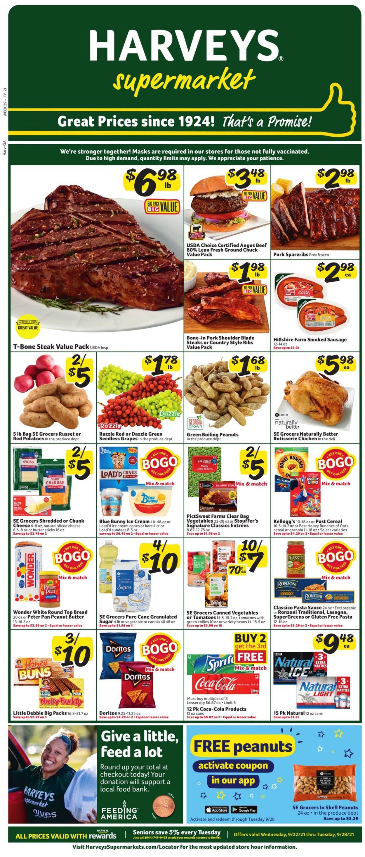Catalogue Harveys Supermarket from 09/22/2021