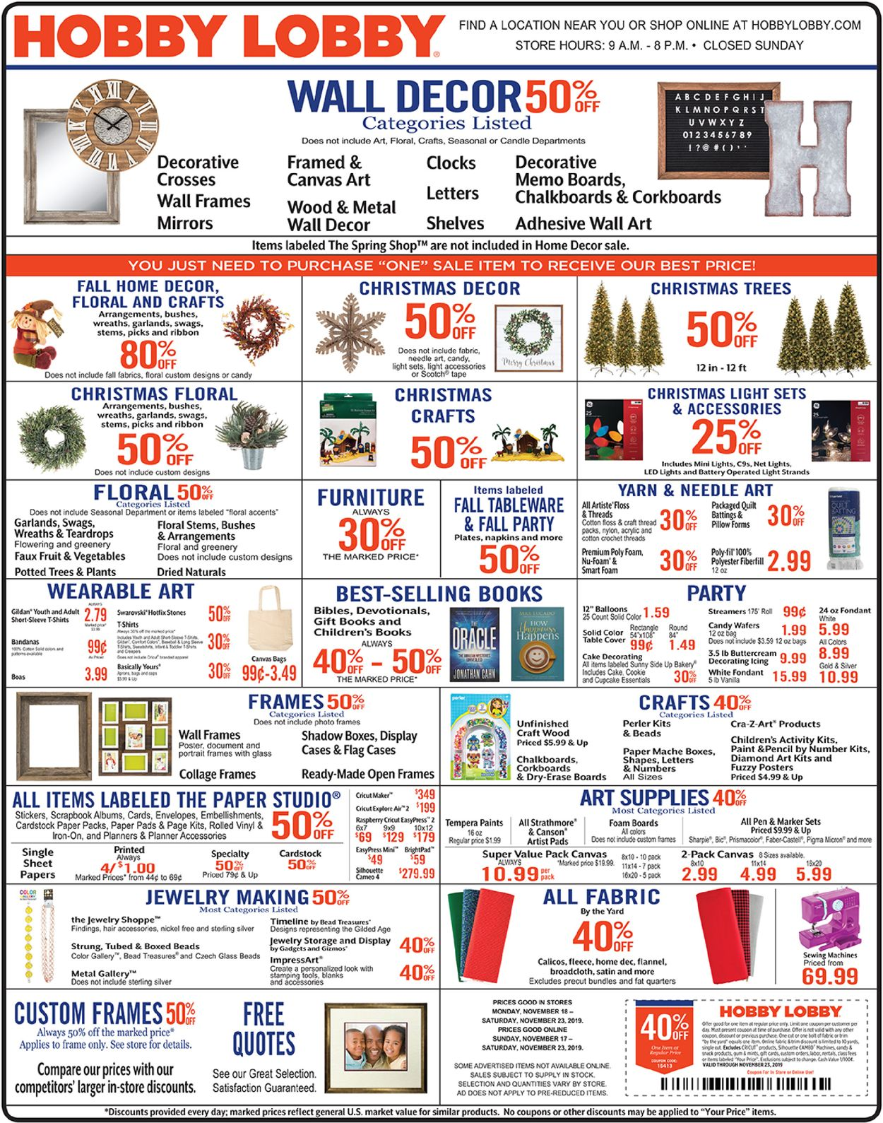 Hobby Lobby Current Weekly Ad 11 18 11 23 2019 Frequent