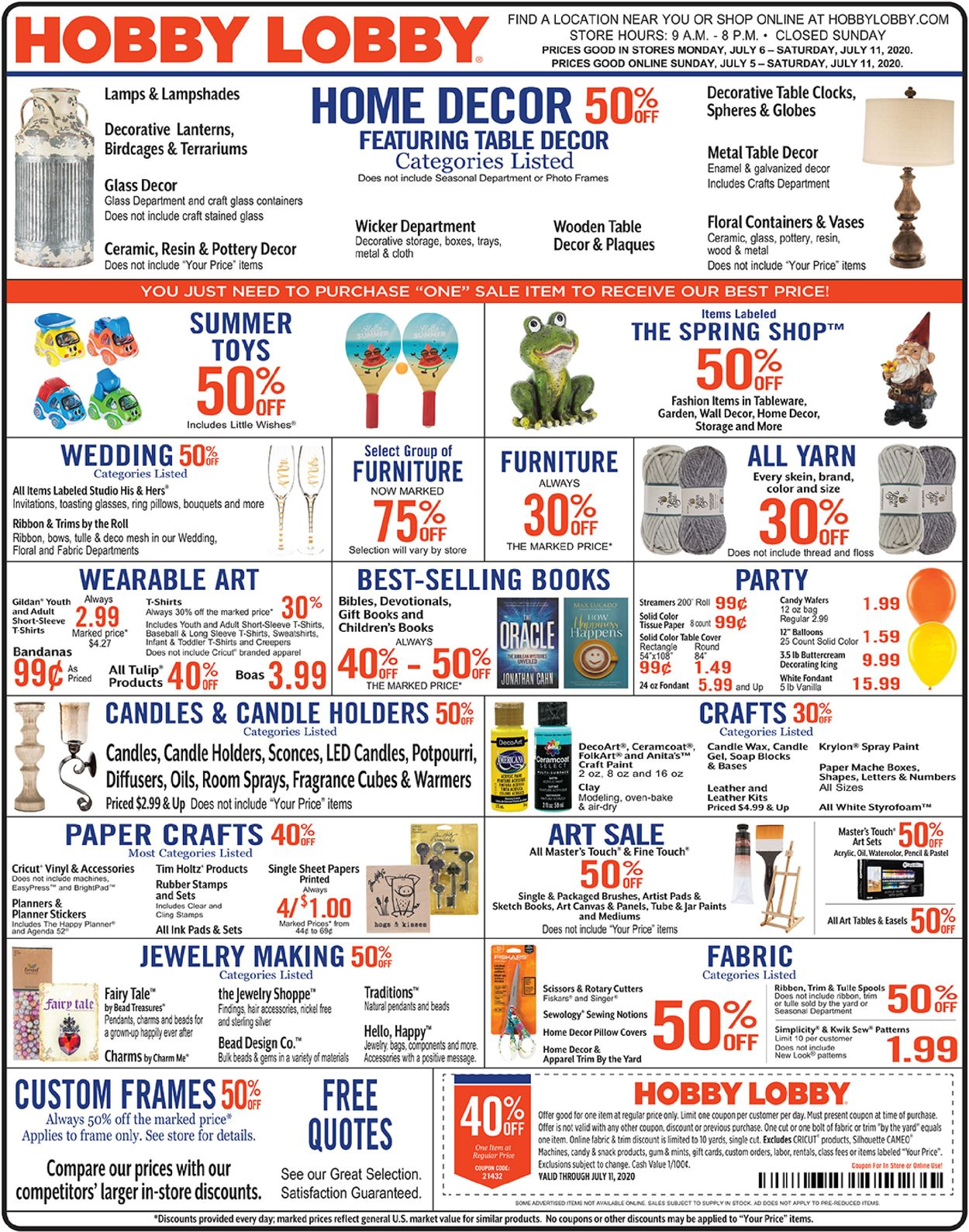 Hobby Lobby Current Weekly Ad 07 06 07 11 2020 Frequent Ads Com