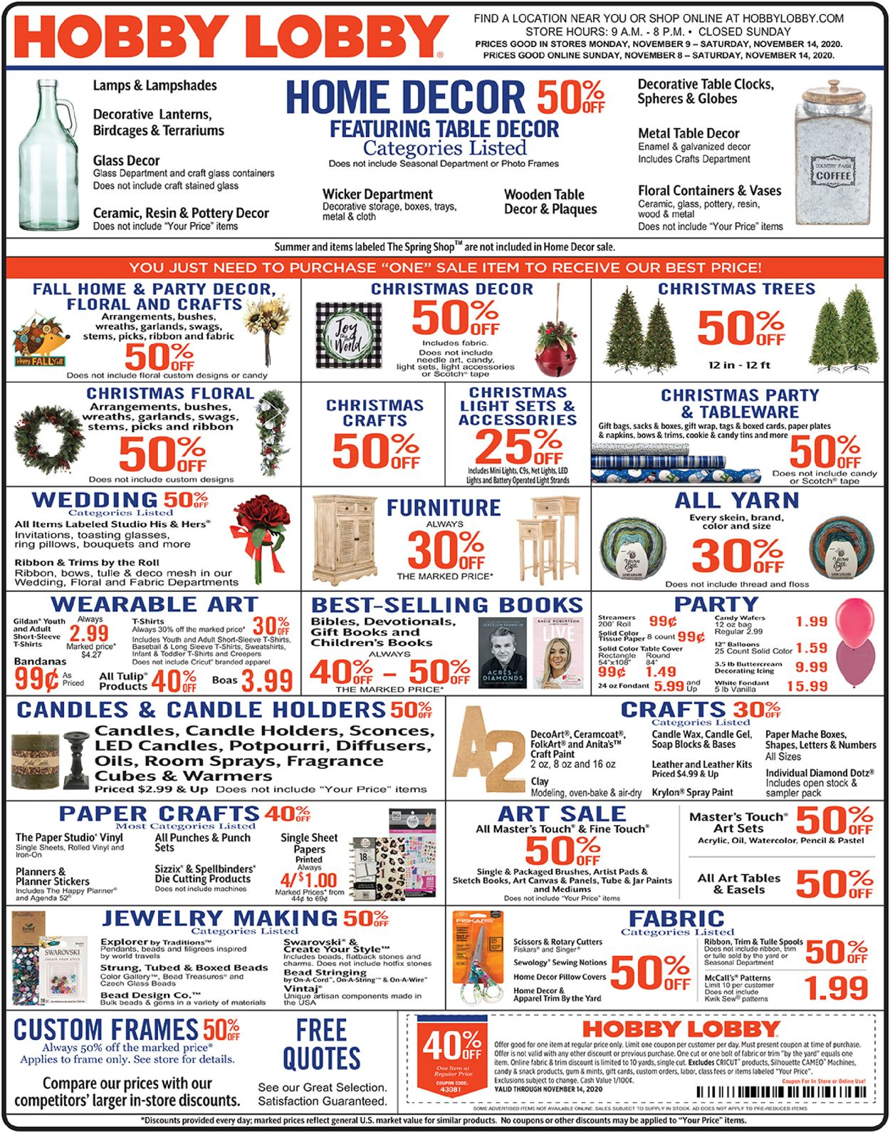 Hobby Lobby Christmas Current Weekly Ad 11 08 11 14 2020 Frequent Ads Com