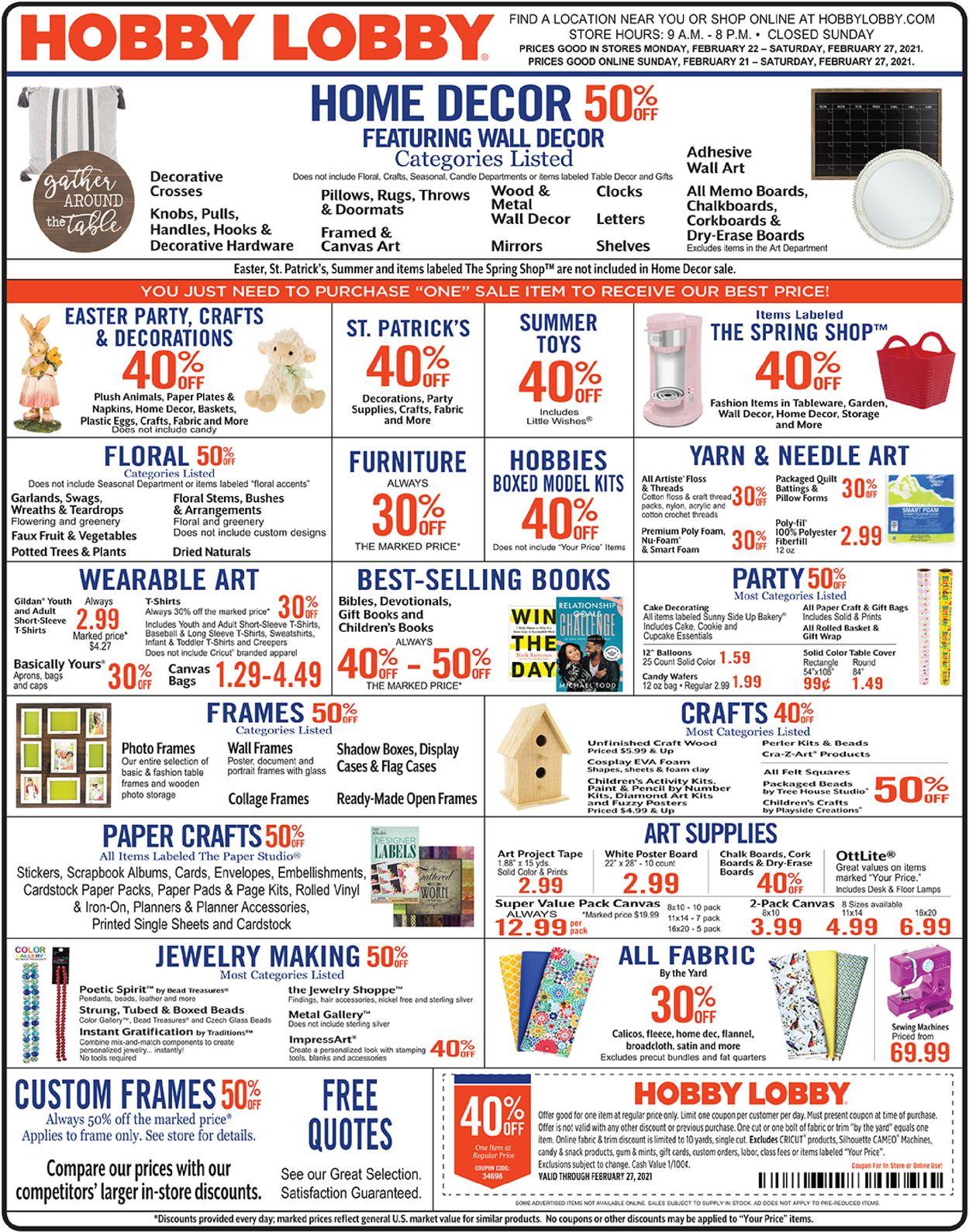 Hobby Lobby weekly-ad