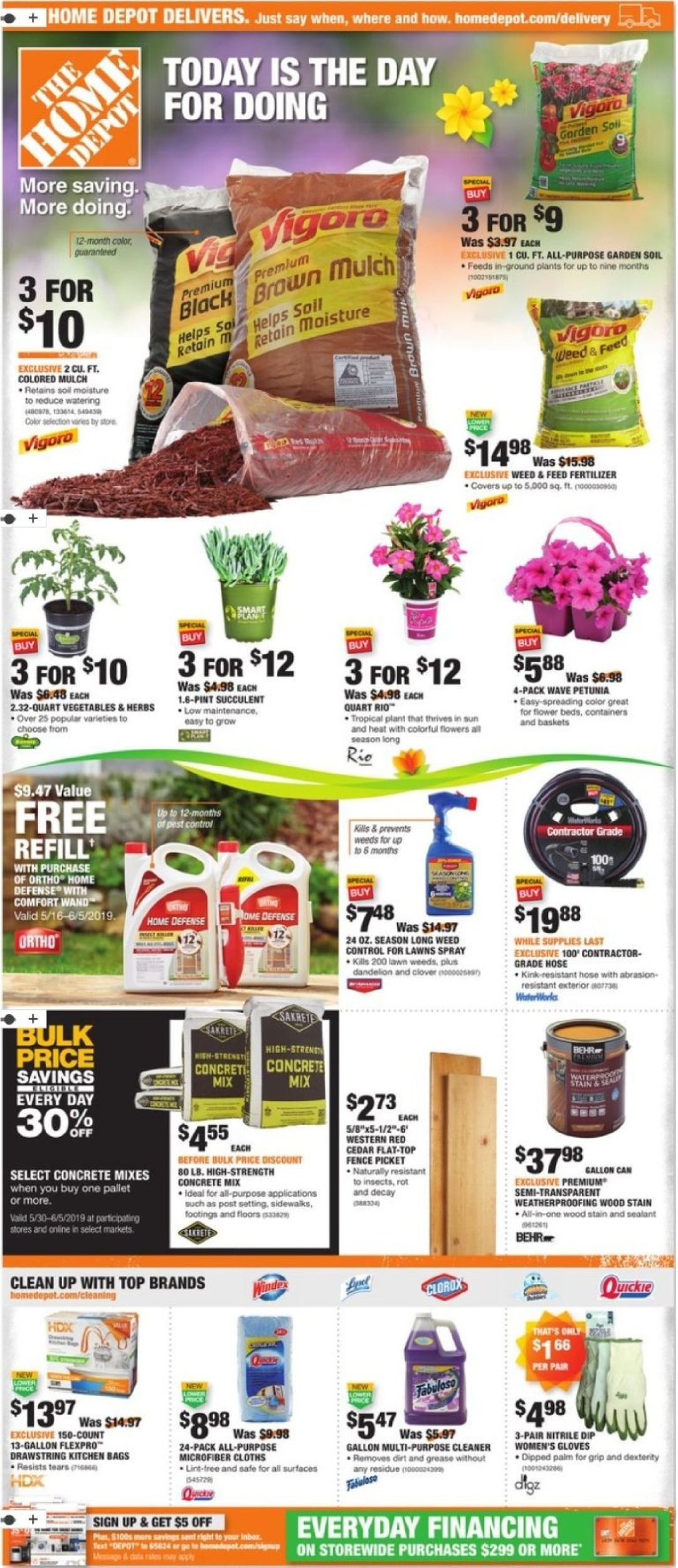 Home Depot Current Weekly Ad 05 30 06 05 2019 Frequent Ads Com