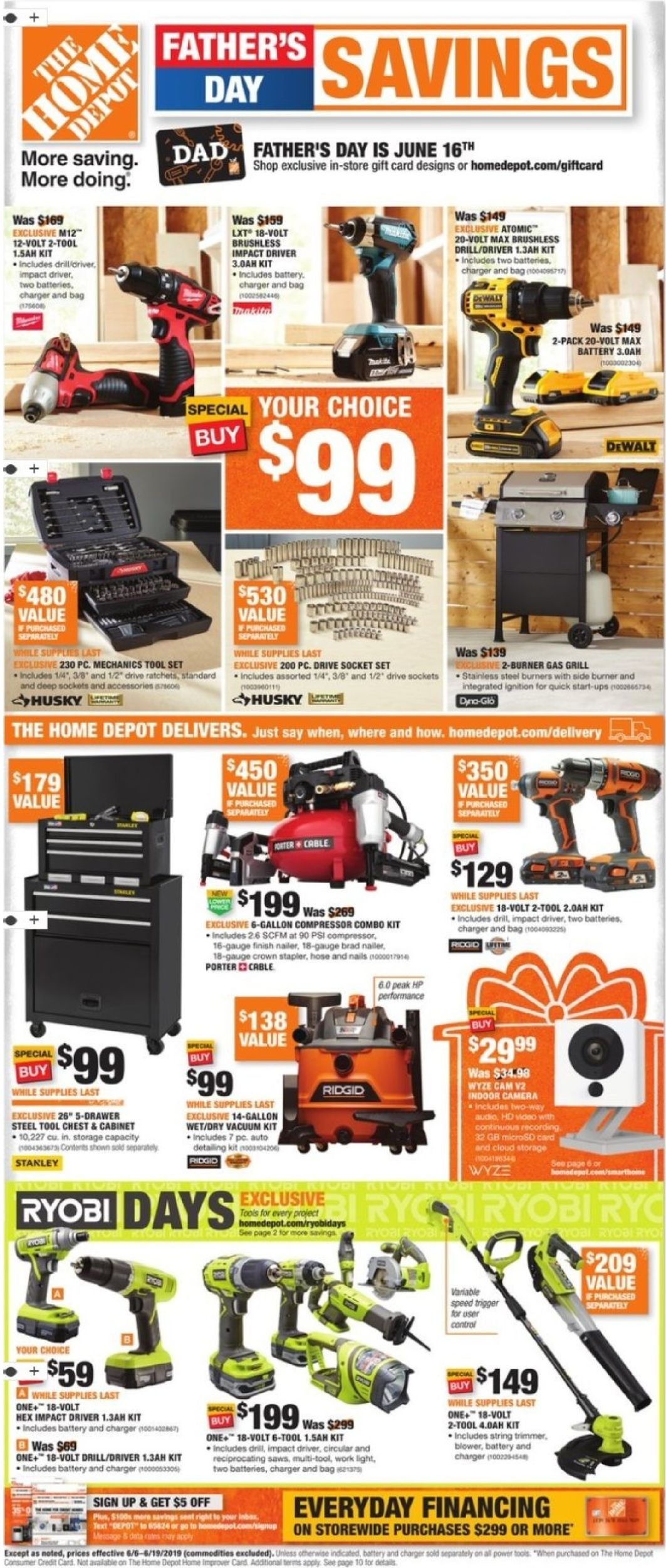 Home Depot Current weekly ad 06/06 - 06/19/2019 - frequent