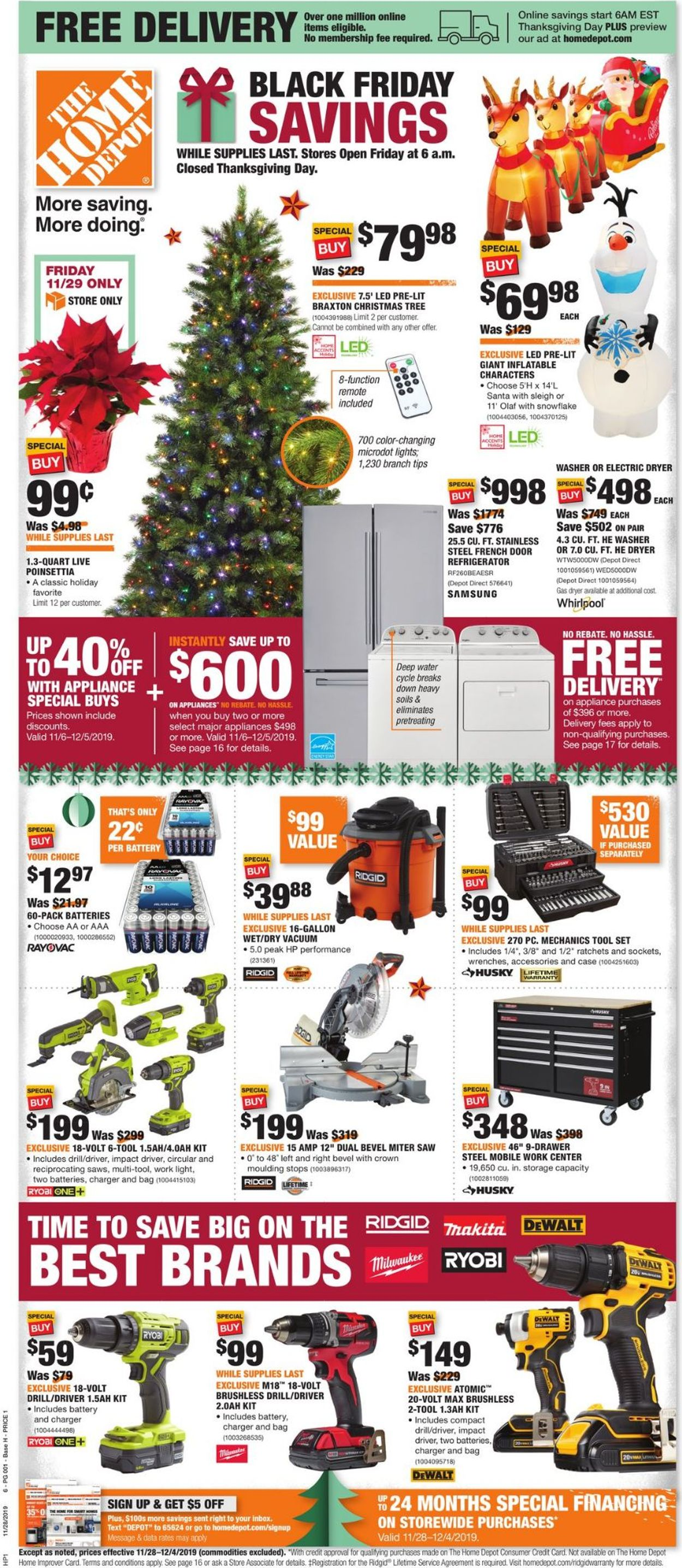 Home Depot Black Friday Savings 2019 Current Weekly Ad 11 28 12 04 2019 Frequent Ads Com