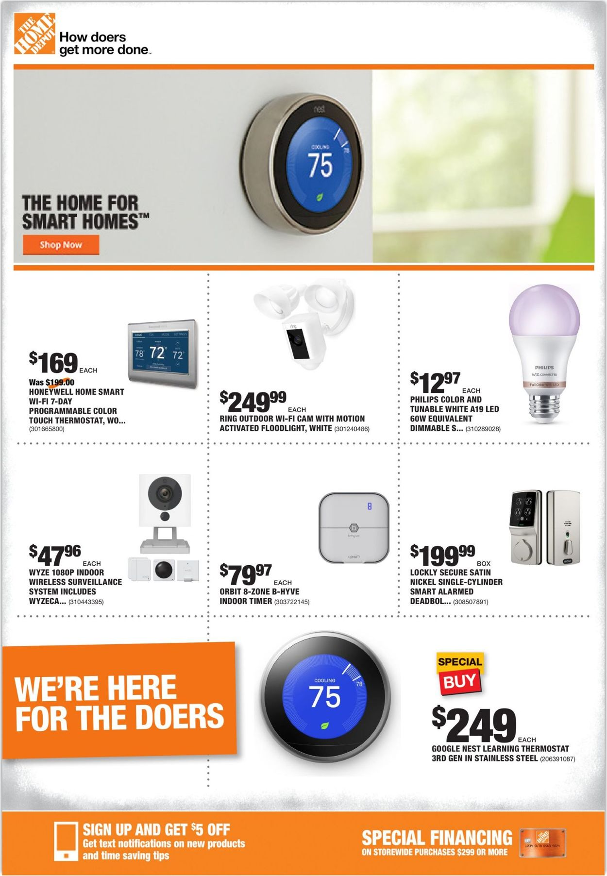 Catalogue Home Depot from 07/30/2020