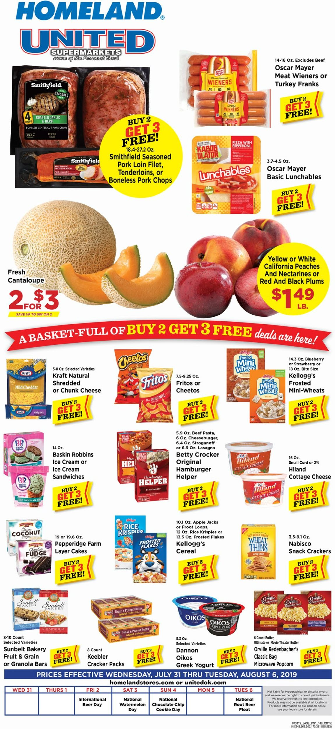 Homeland Current weekly ad 07/31 - 08