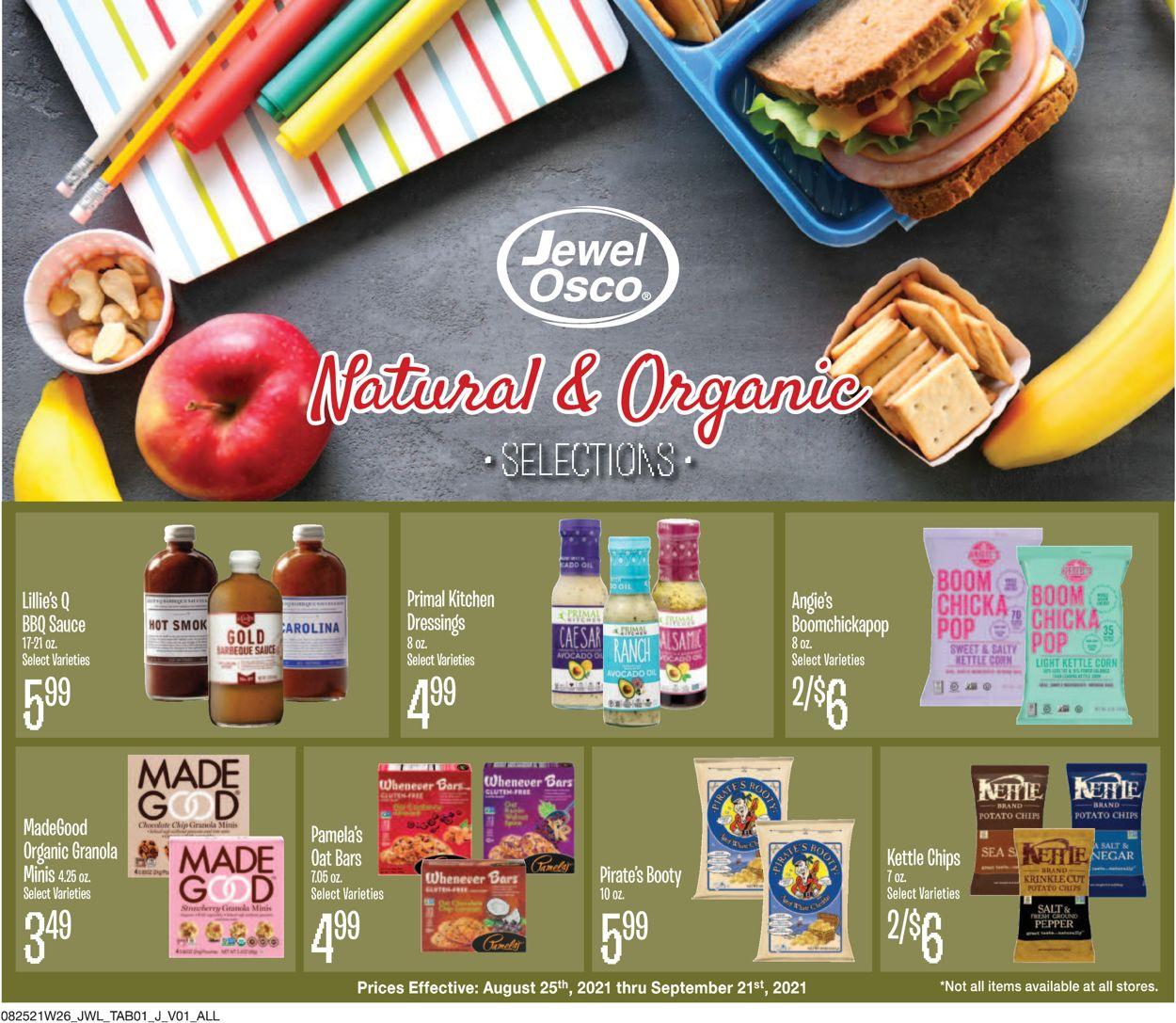 Catalogue Jewel Osco from 08/25/2021