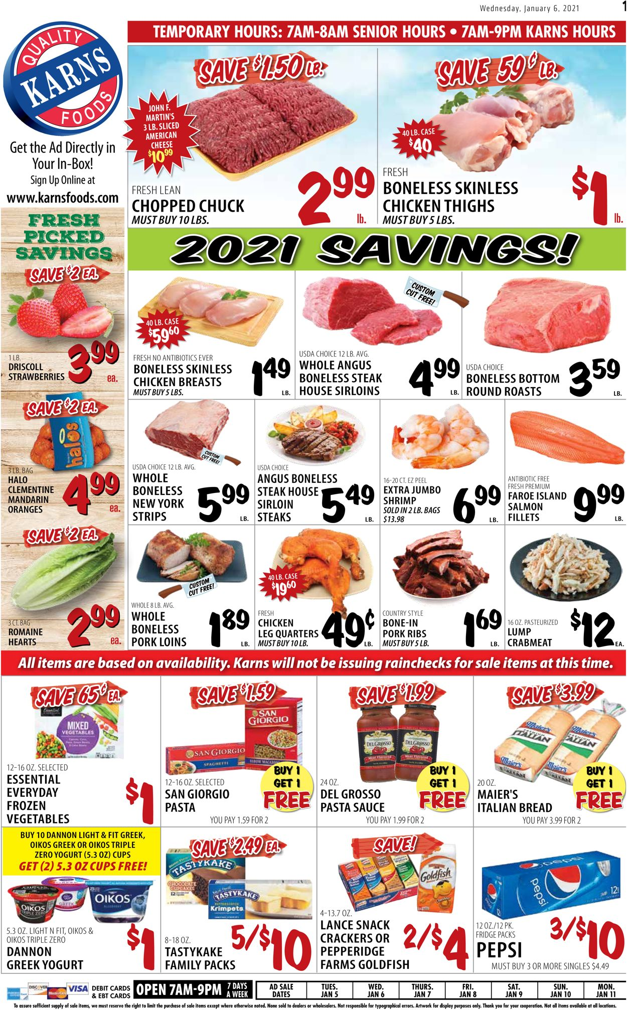 Catalogue Karns Quality Foods from 01/05/2021