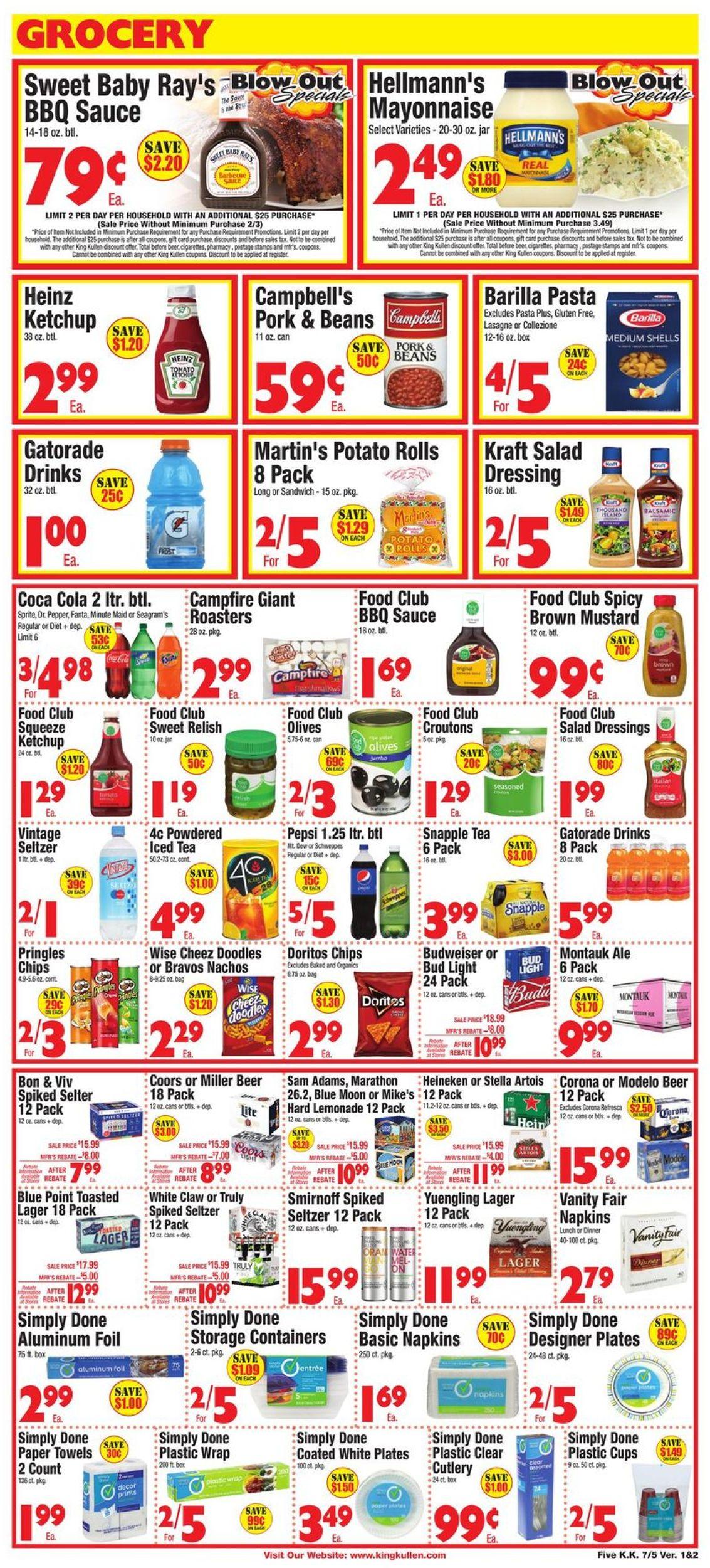 King Kullen Current weekly ad 07/05 - 07/11/2019 [5