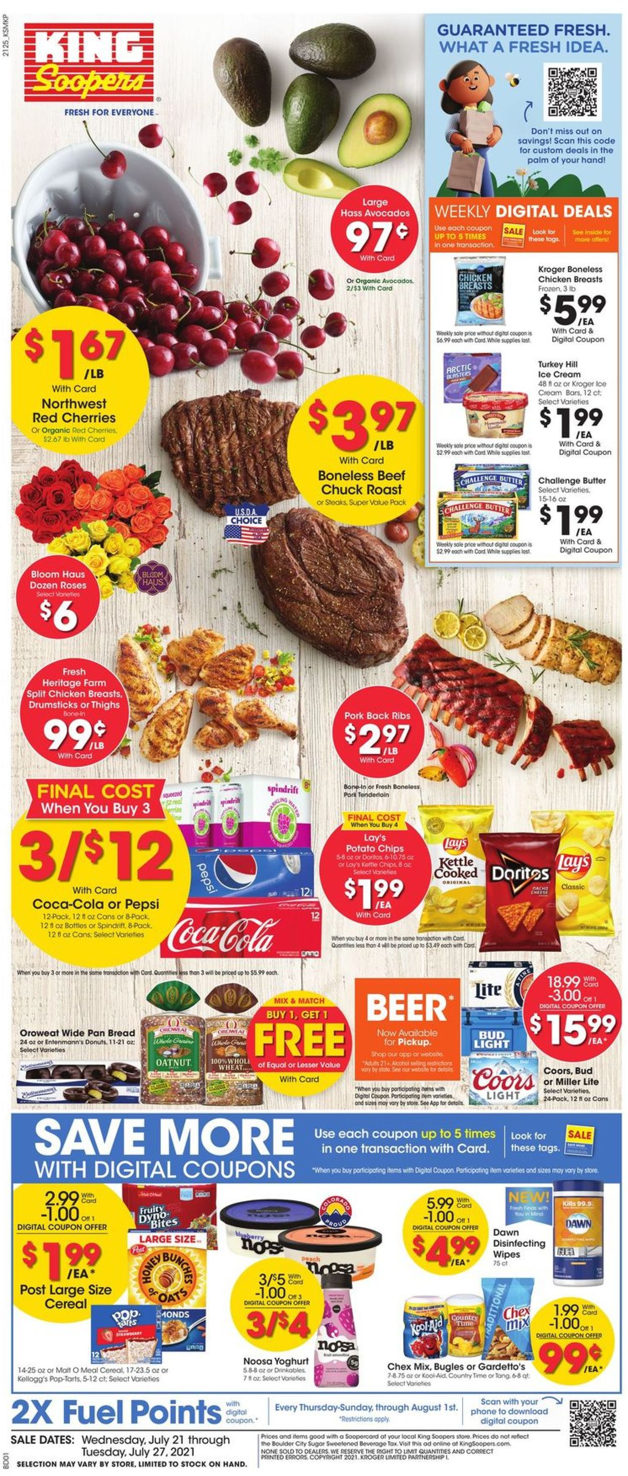 Catalogue King Soopers from 07/21/2021