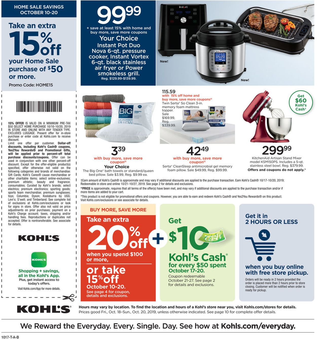 Kohl S Current Weekly Ad 10 18 10 20 2019 12 Frequent Ads Com