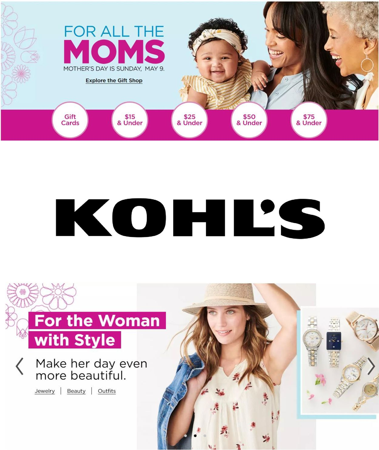 Catalogue Kohl's from 04/22/2021