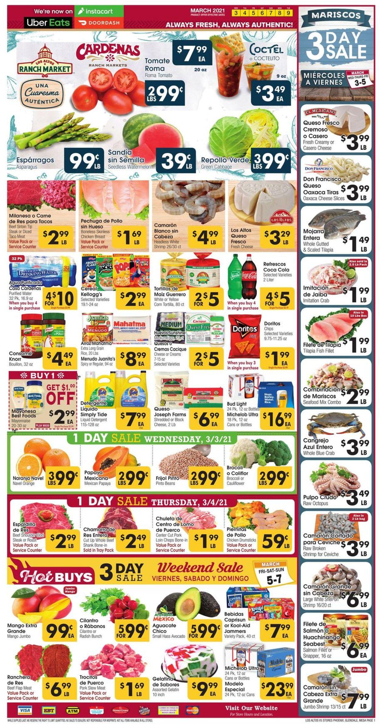 Catalogue Los Altos Ranch Market from 03/03/2021