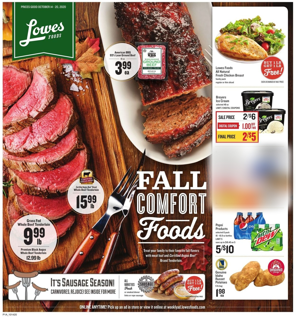 Lowes Foods Current weekly ad 10/14   10/20/2020   frequent ads.com