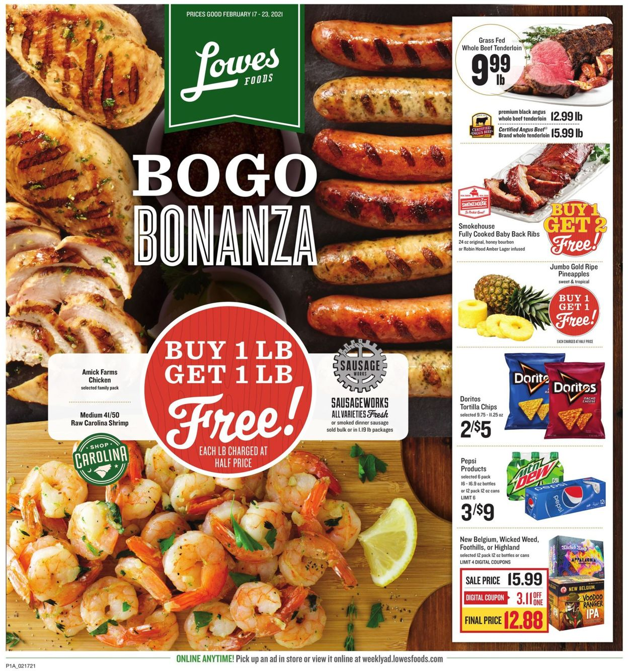 Catalogue Lowes Foods from 02/17/2021