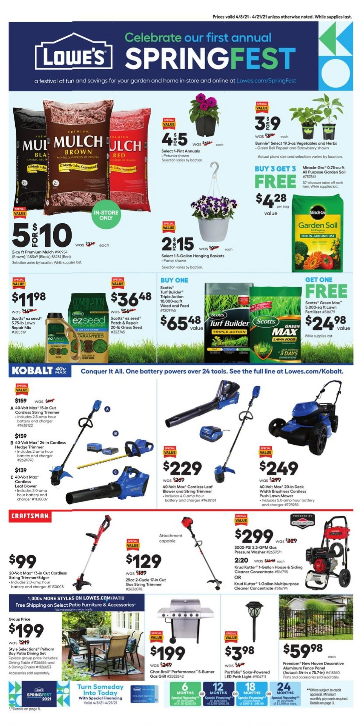 Catalogue Lowe's from 04/08/2021