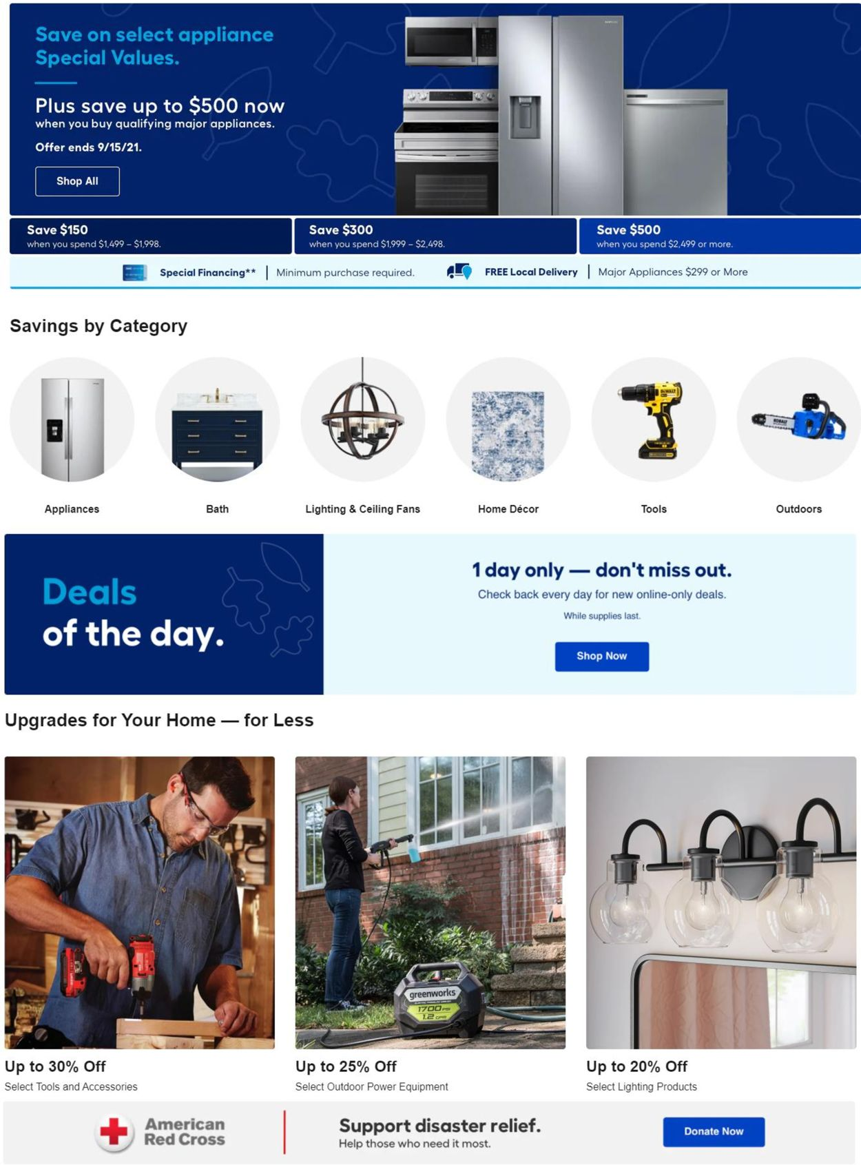 Catalogue Lowe's from 09/09/2021