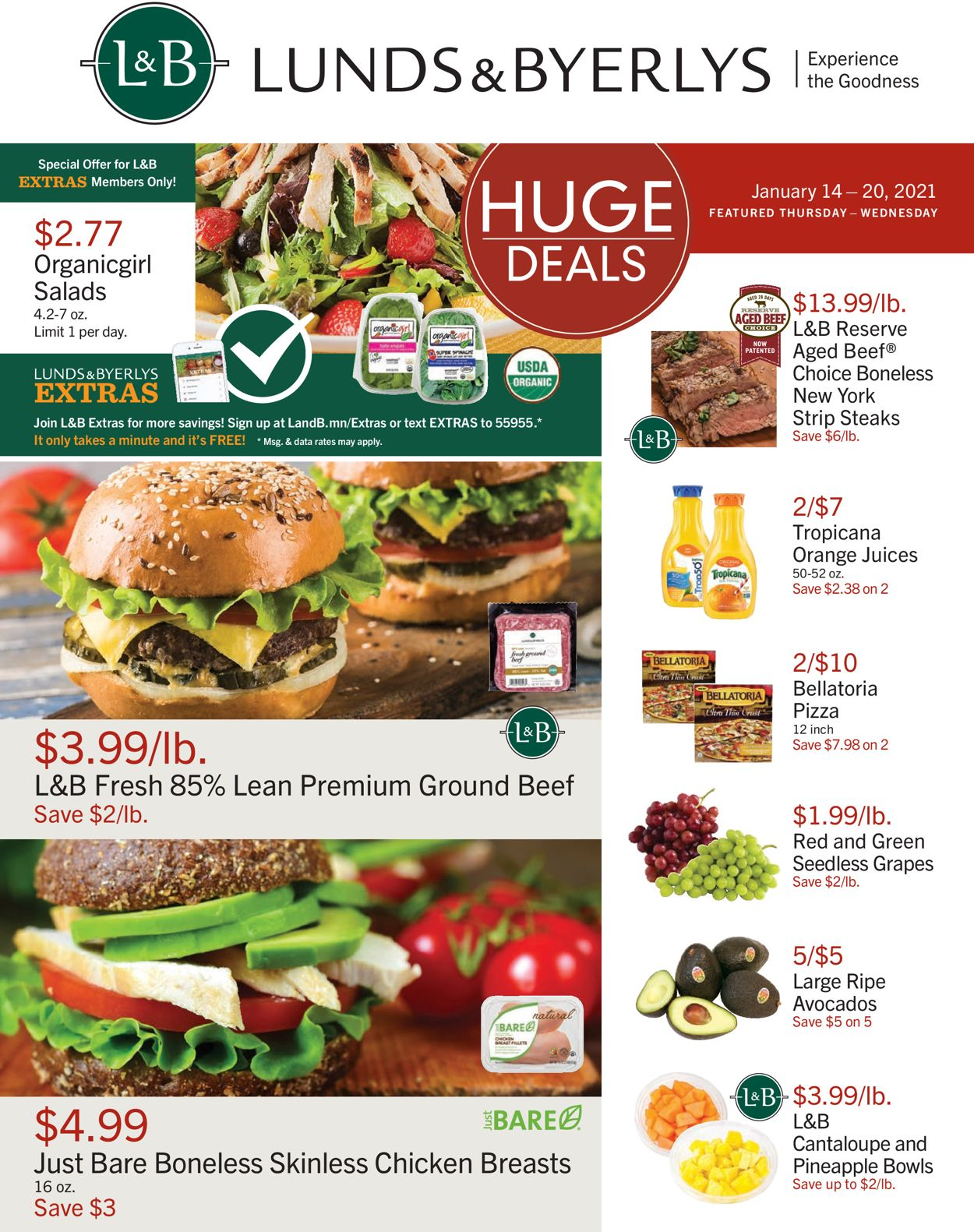 Catalogue Lunds & Byerlys from 01/14/2021