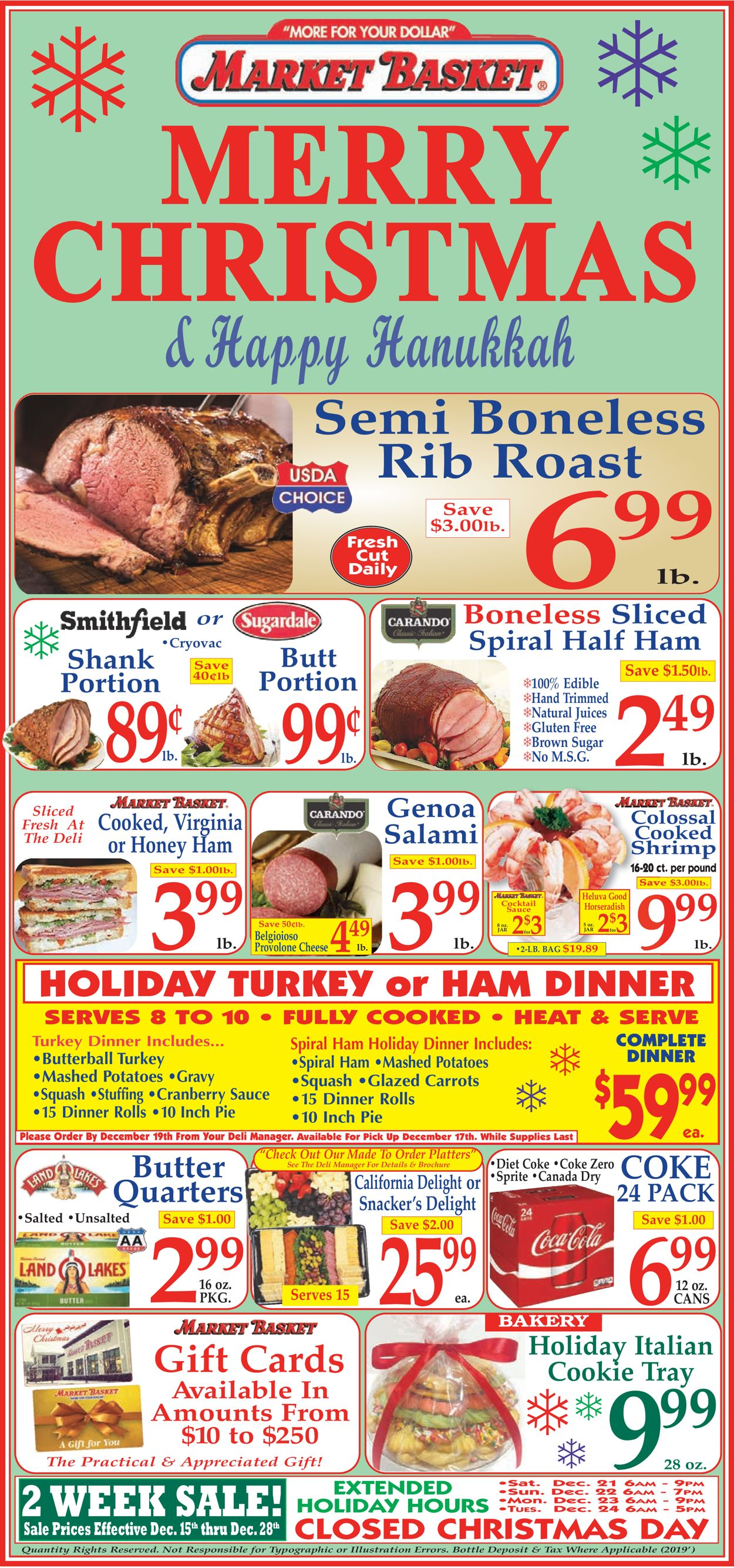 Market Basket Bakery Christmas 2020 Market Basket   Christmas Ad 2019 Current weekly ad 12/15   12/28