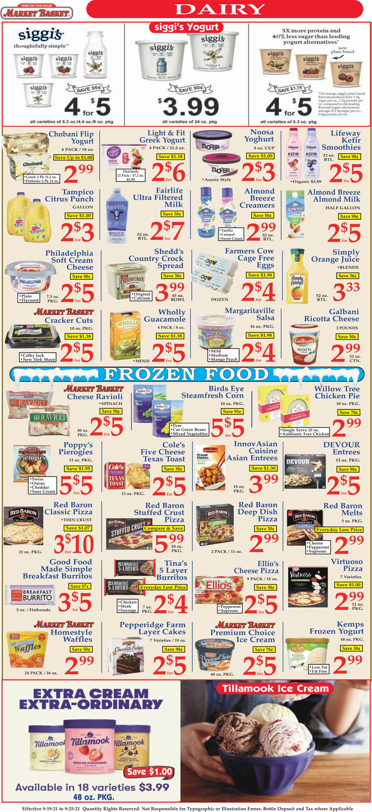 Catalogue Market Basket from 09/19/2021