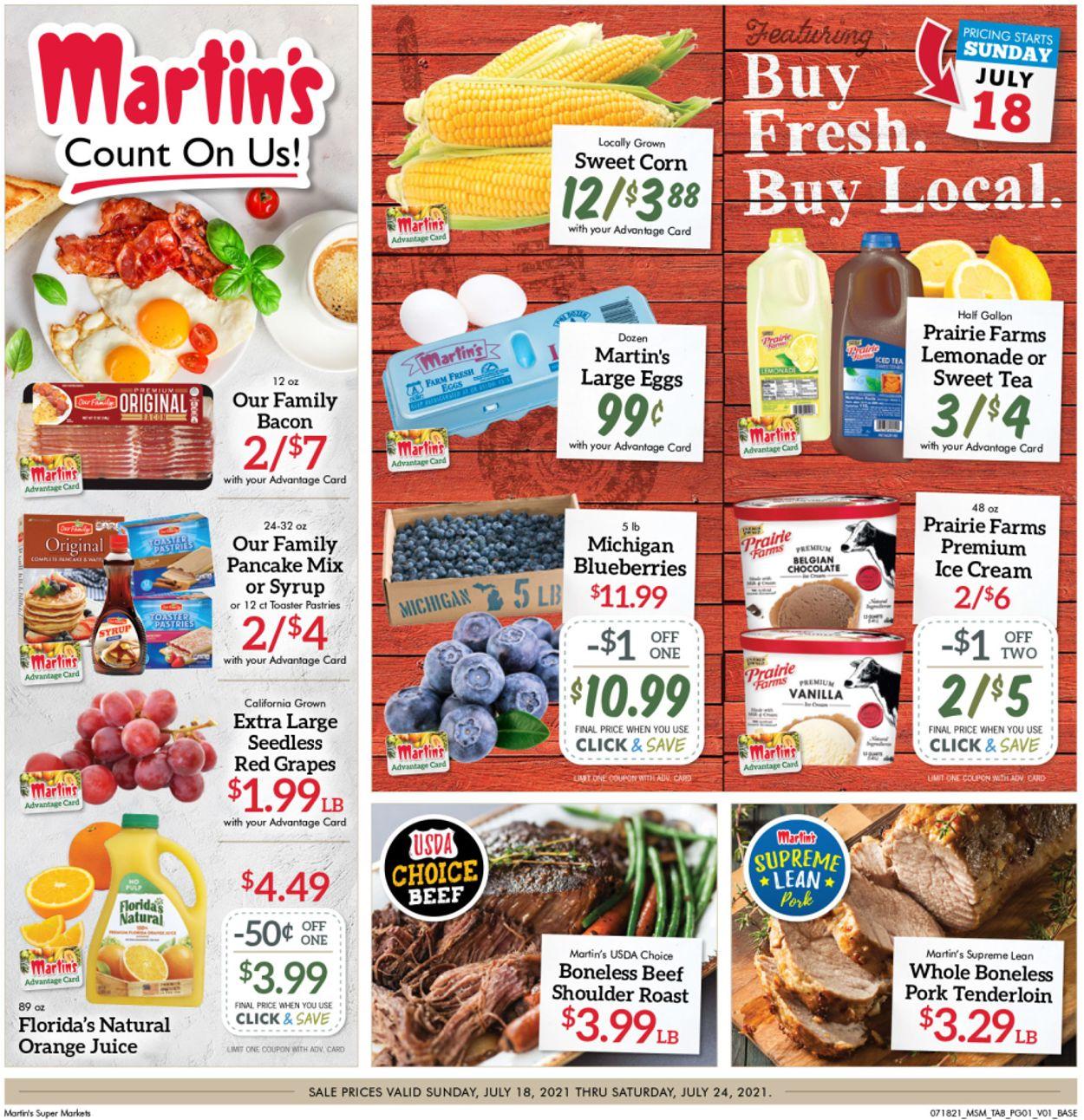 Catalogue Martin's from 07/18/2021
