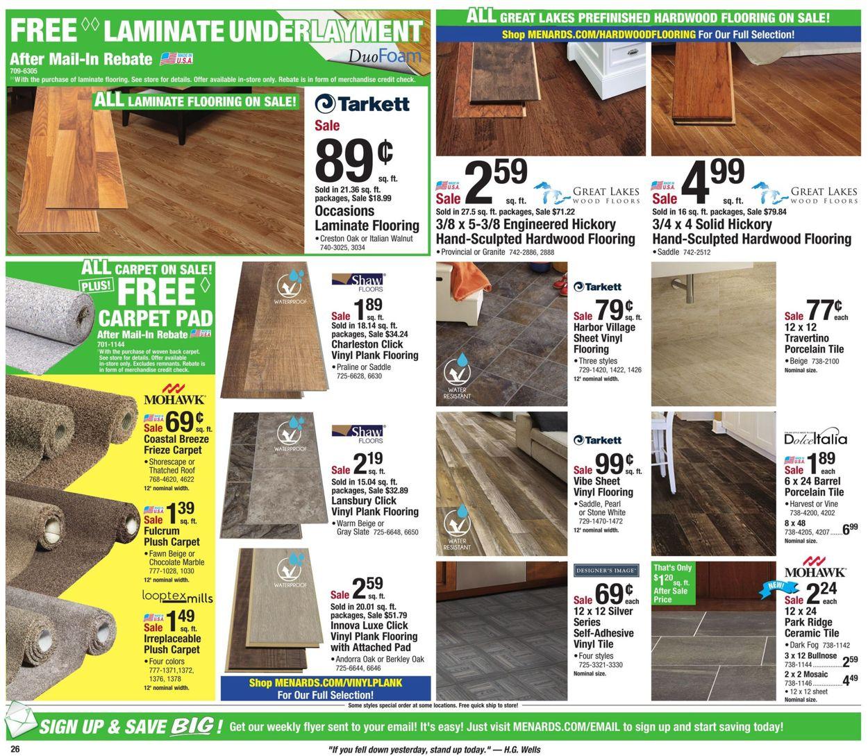 Menards Cur Weekly Ad 05 11, Menards Laminate Plank Flooring