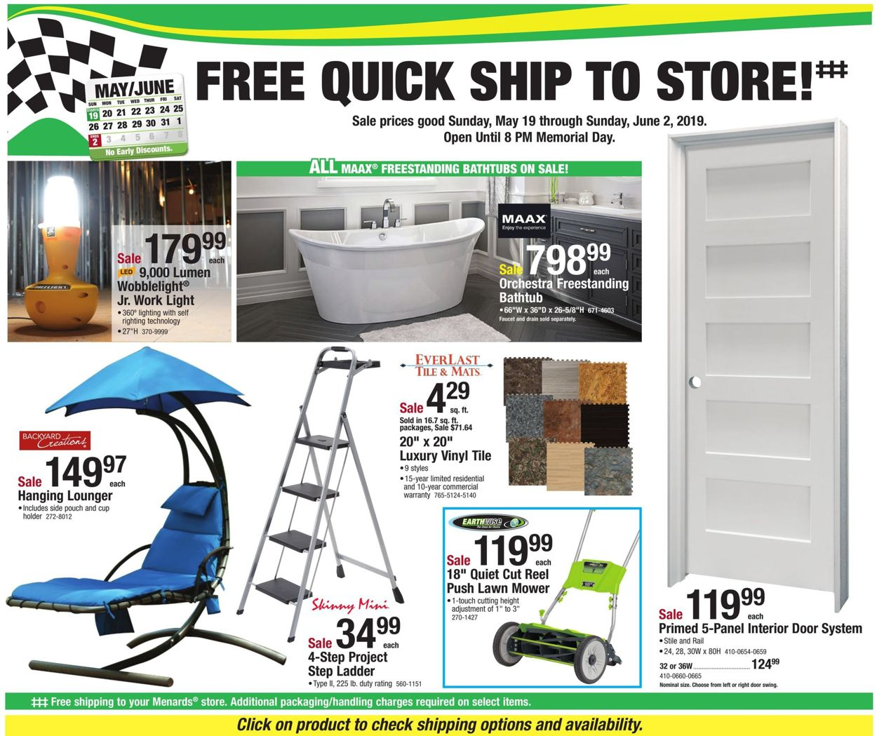 Menards Current Weekly Ad 05 19 06 02 2019 Frequent Ads Com