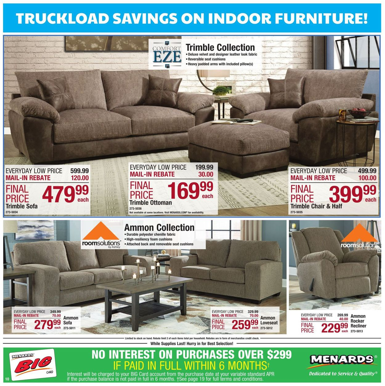 Menards Cur Weekly Ad 08 18 24, Menards Living Room Furniture