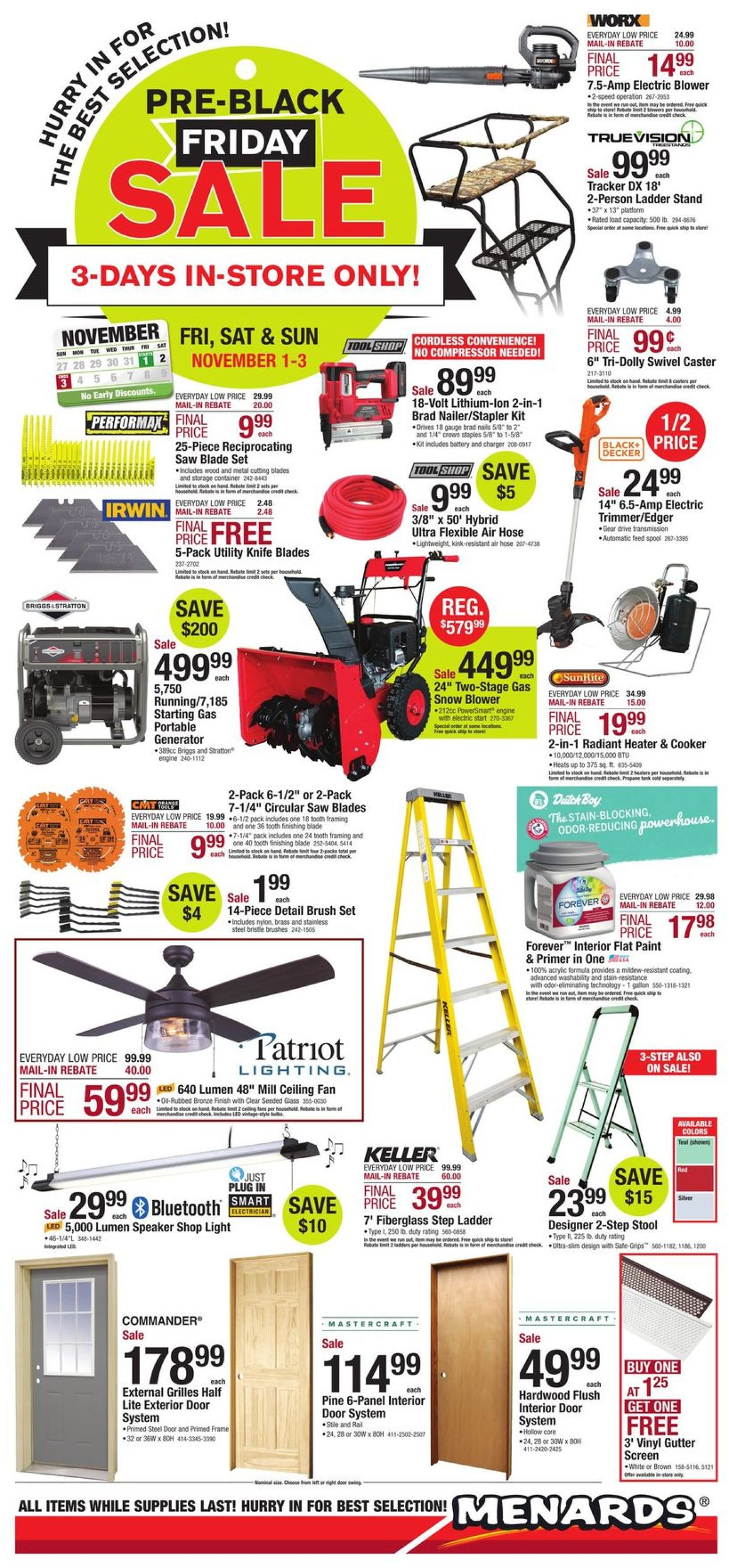 Excellent Menards Black Friday 2019 Current Weekly Ad 11 01 11 03 Cjindustries Chair Design For Home Cjindustriesco
