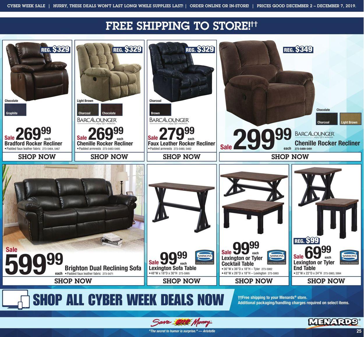 Menards Cyber Week 2019 Cur, Menards Living Room Furniture