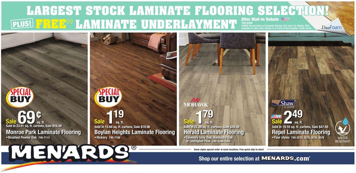 Menards Cur Weekly Ad 12 29 01 04, Mohawk Laminate Flooring Menards