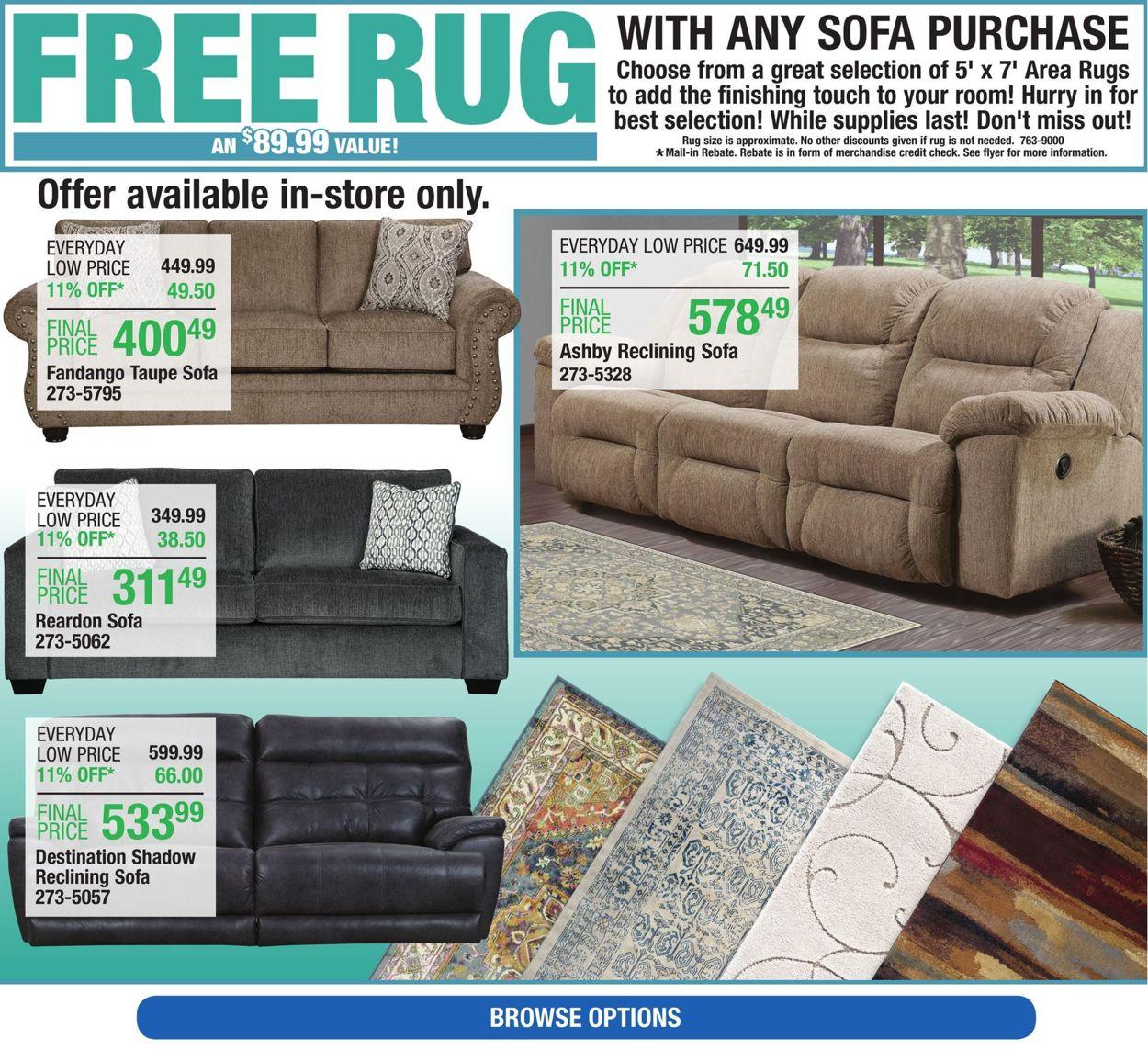 Menards Cur Weekly Ad 01 05 11, Menards Living Room Furniture