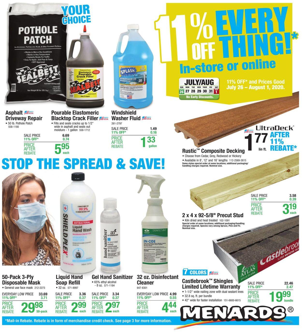 Catalogue Menards from 07/26/2020