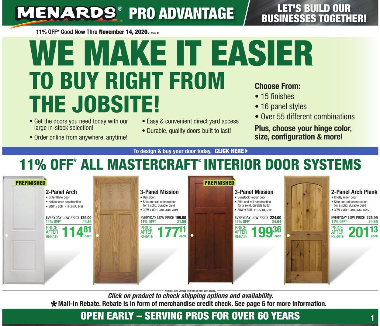 Menards Current Weekly Ad 11 08 11 14 2020 Frequent Ads Com