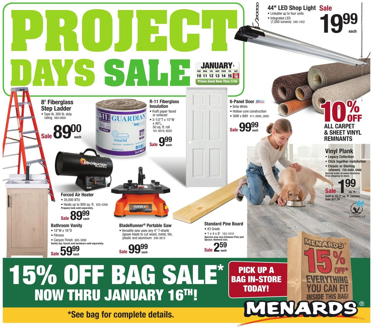 Catalogue Menards Sale 2021 from 01/10/2021