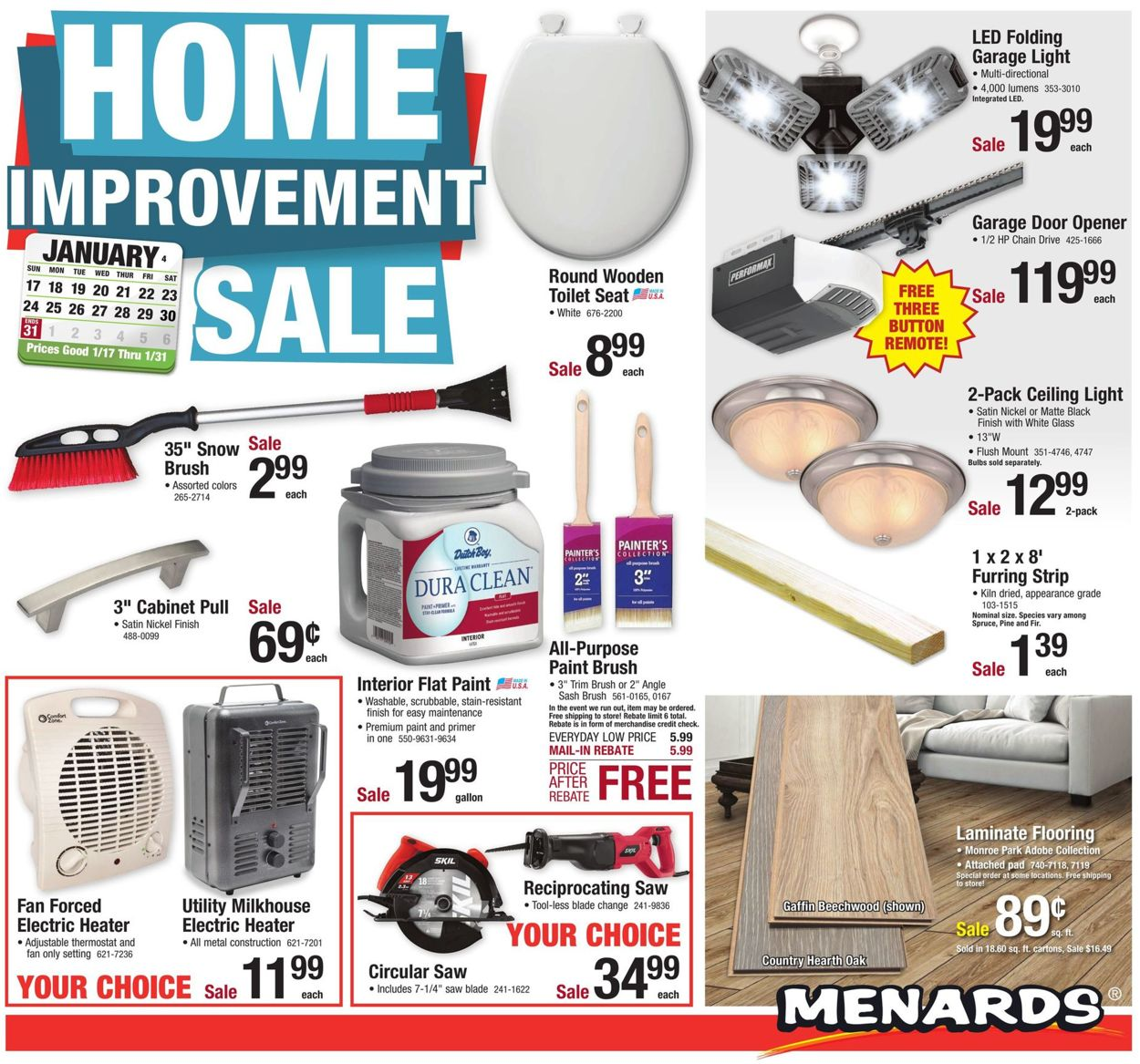 Menards Home Improvement Sale 2021 Current Weekly Ad 01 17 01 31 2021 Frequent Ads Com