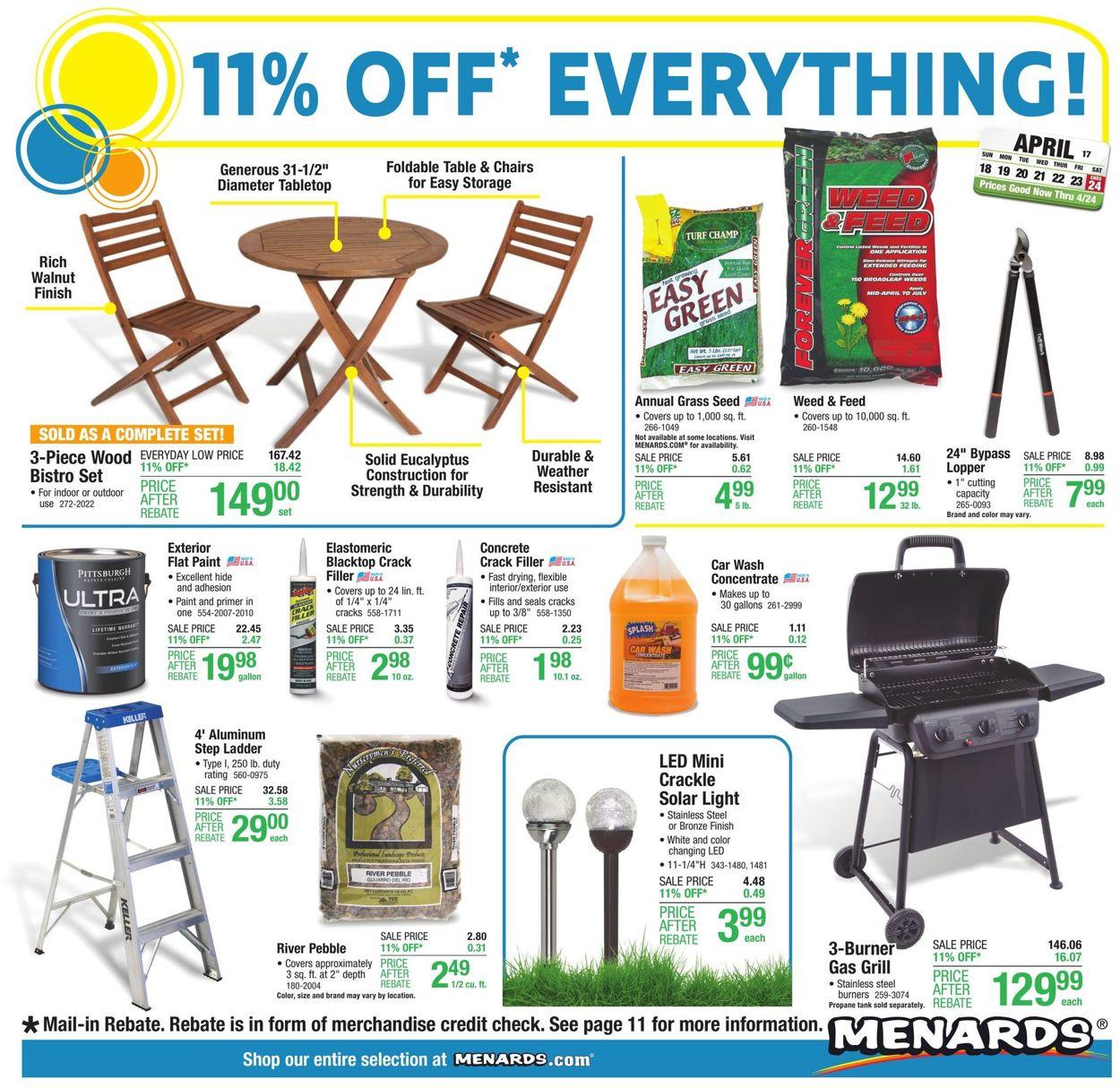Catalogue Menards from 04/18/2021