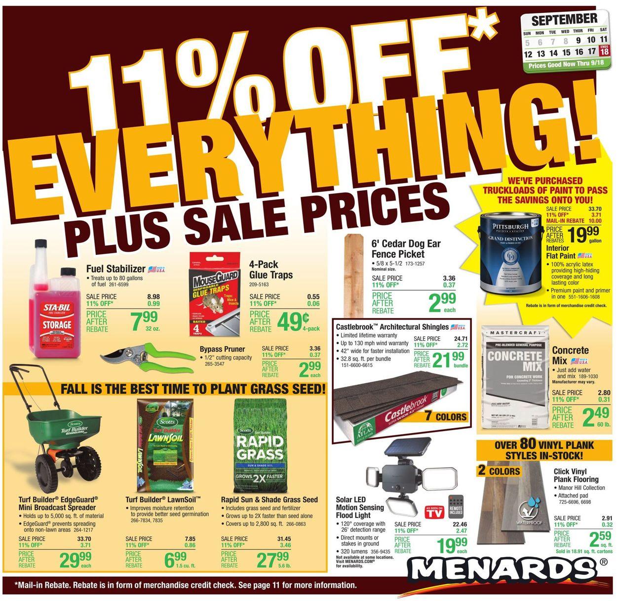 Catalogue Menards from 09/09/2021