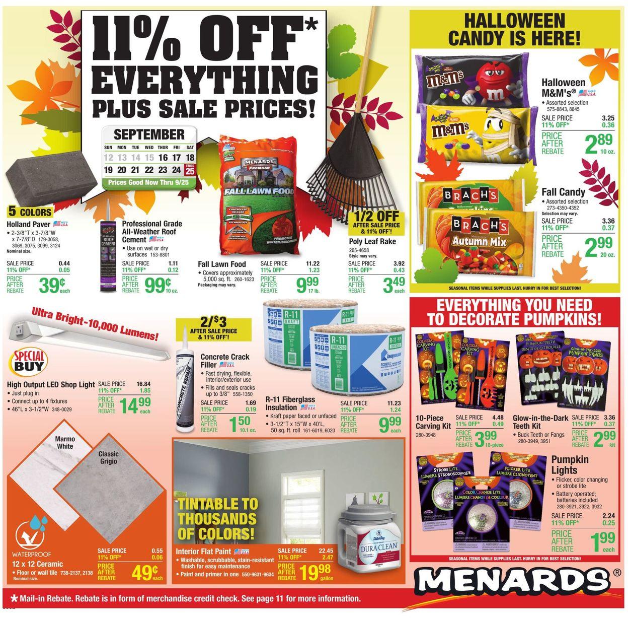 Catalogue Menards from 09/16/2021