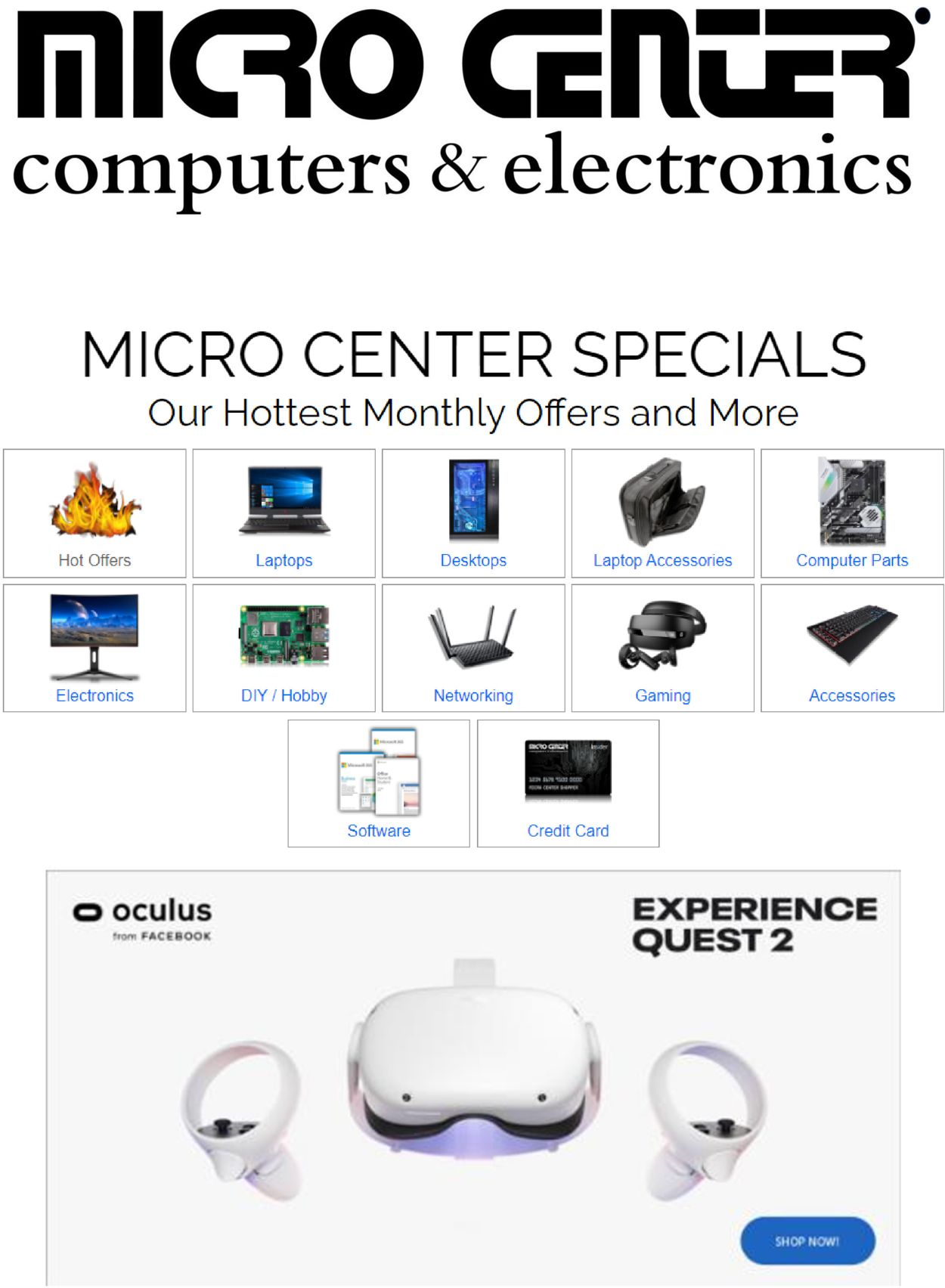 Catalogue Micro Center from 12/03/2020