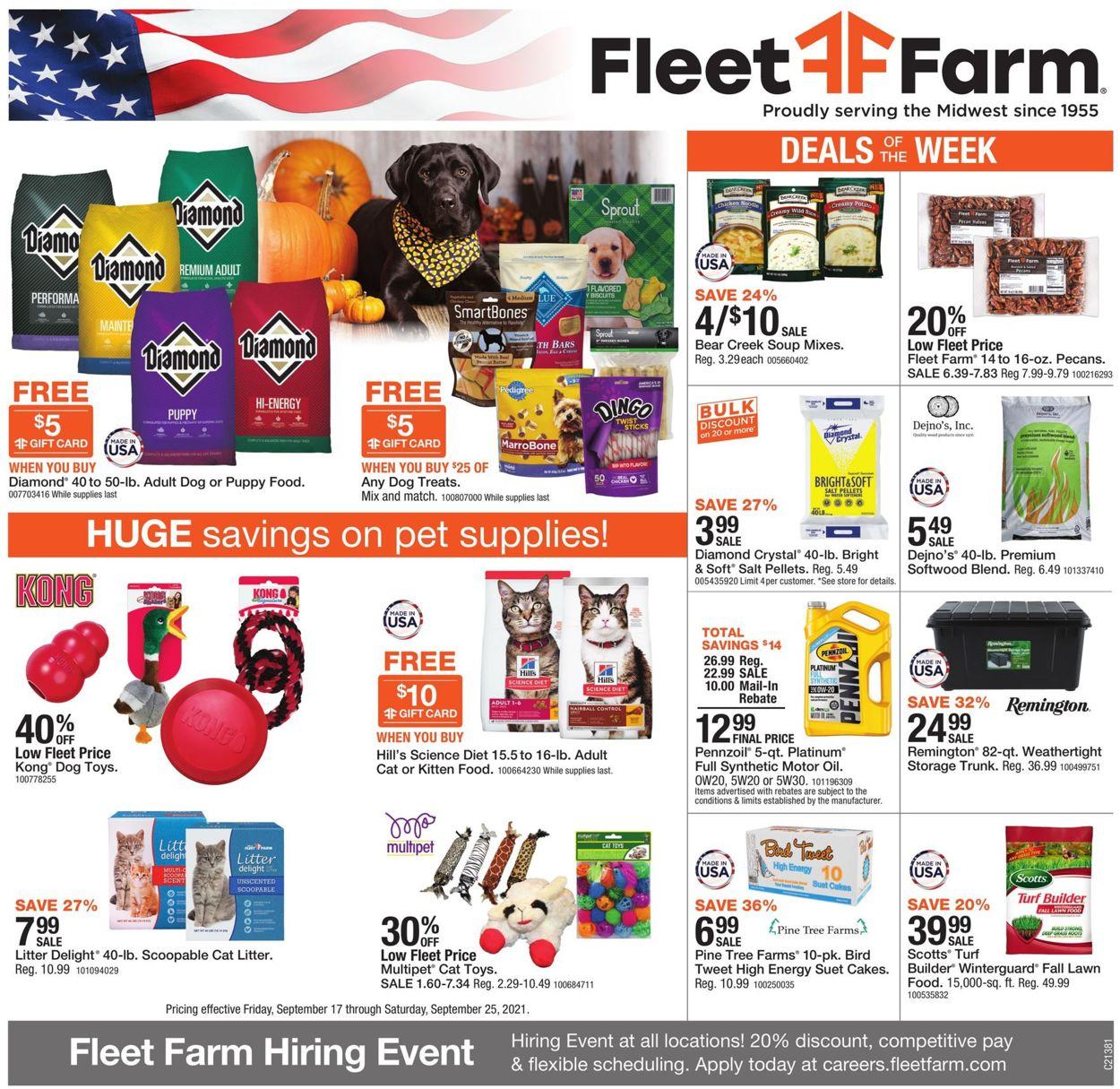 Catalogue Mills Fleet Farm from 09/17/2021