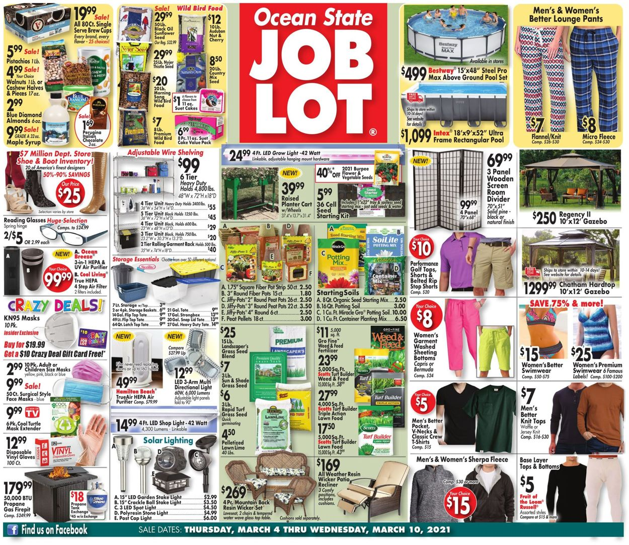 Catalogue Ocean State Job Lot from 03/04/2021
