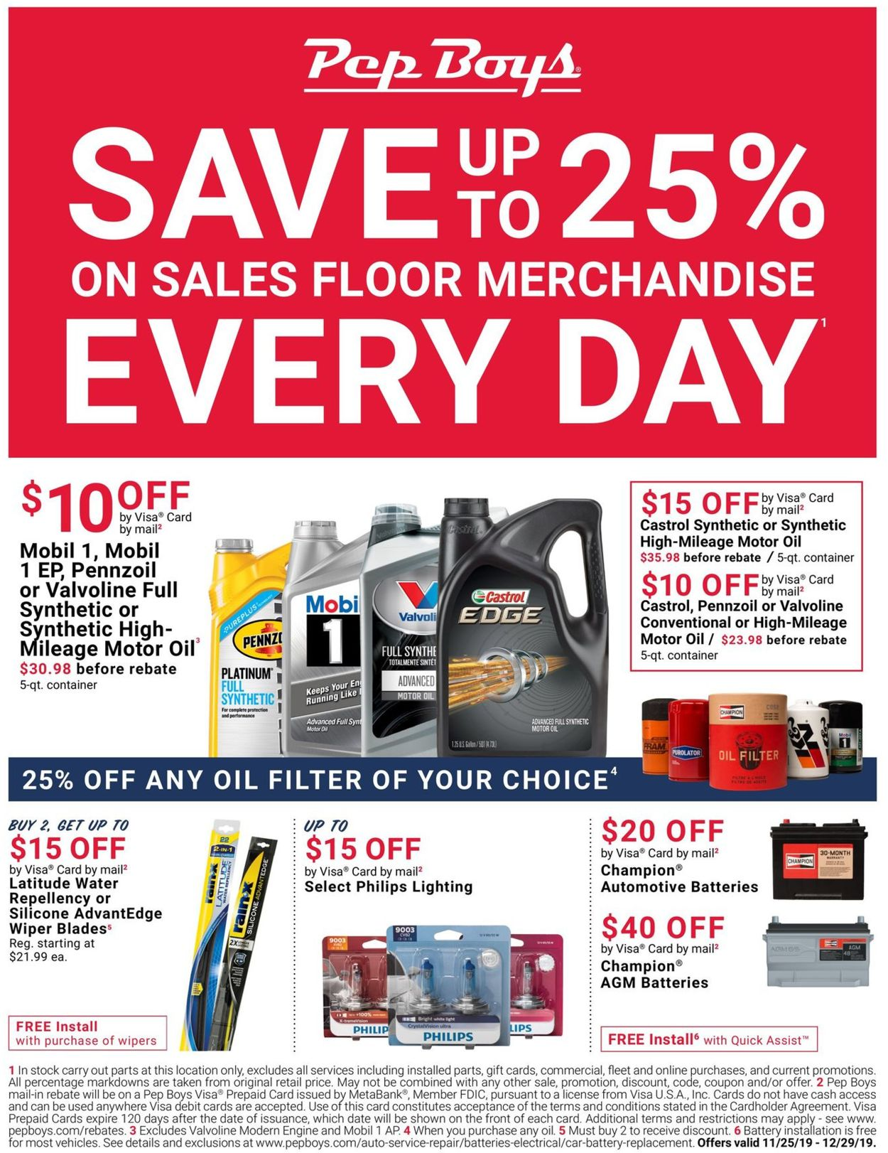 Catalogue Pep Boys from 11/25/2019