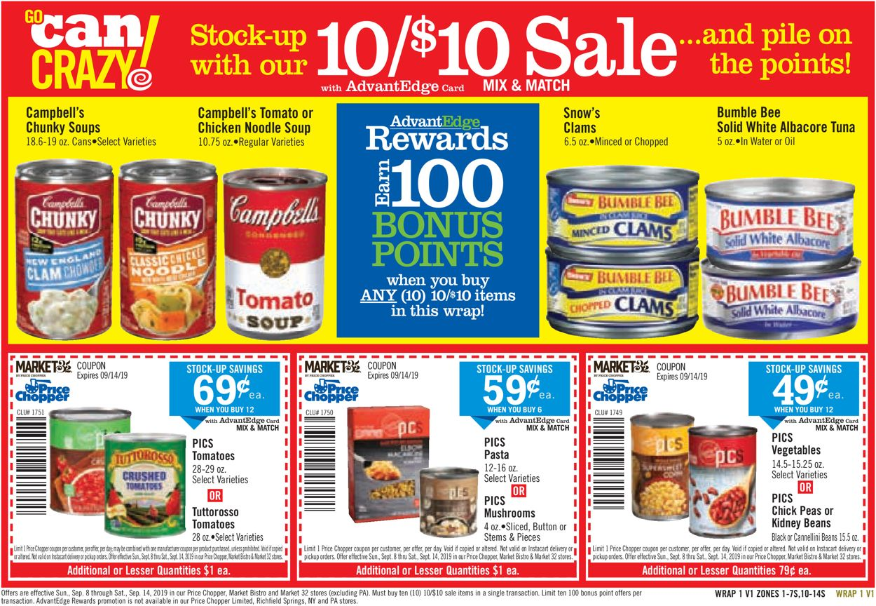 Catalogue Price Chopper from 09/08/2019