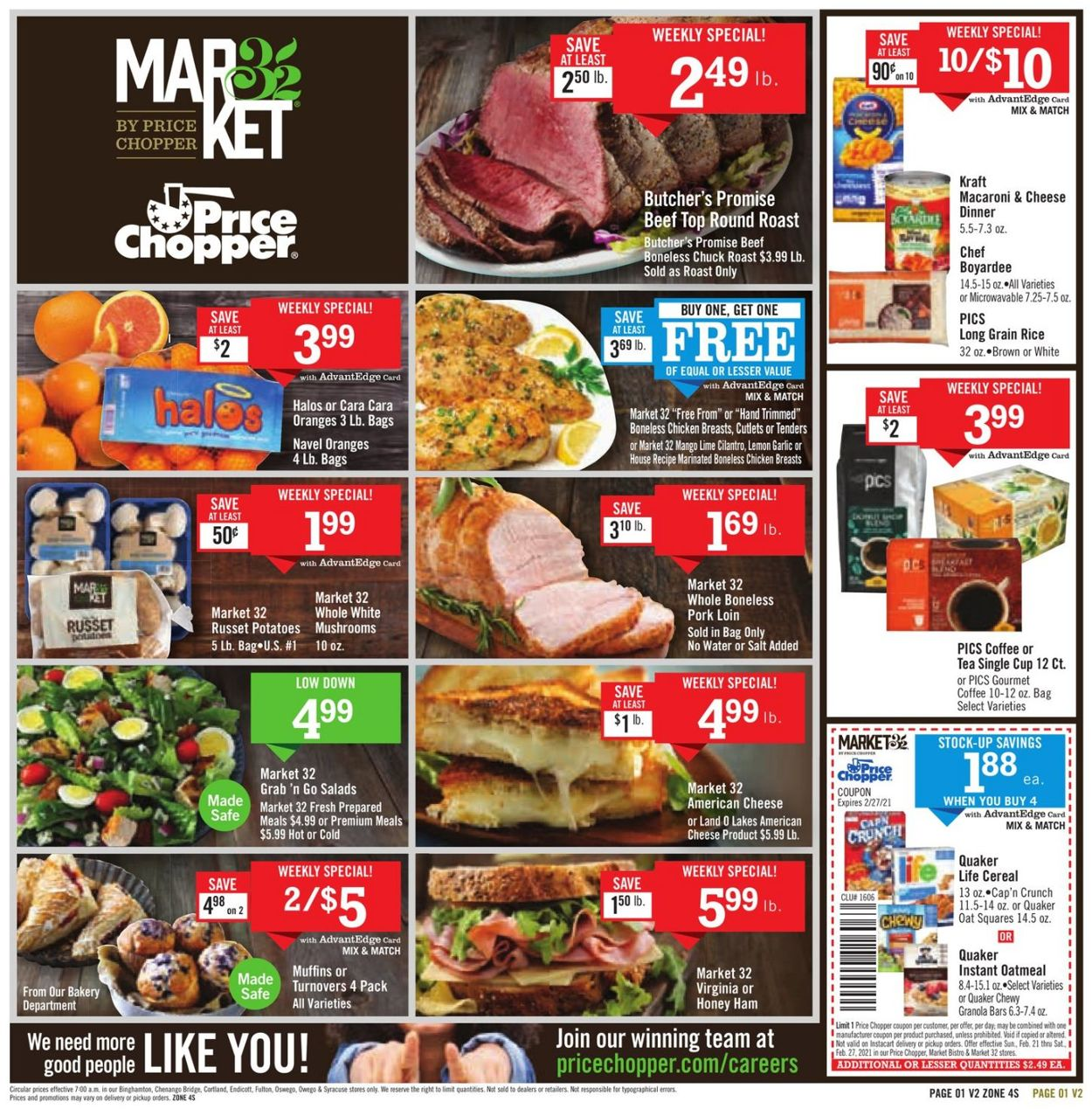 Catalogue Price Chopper from 02/21/2021