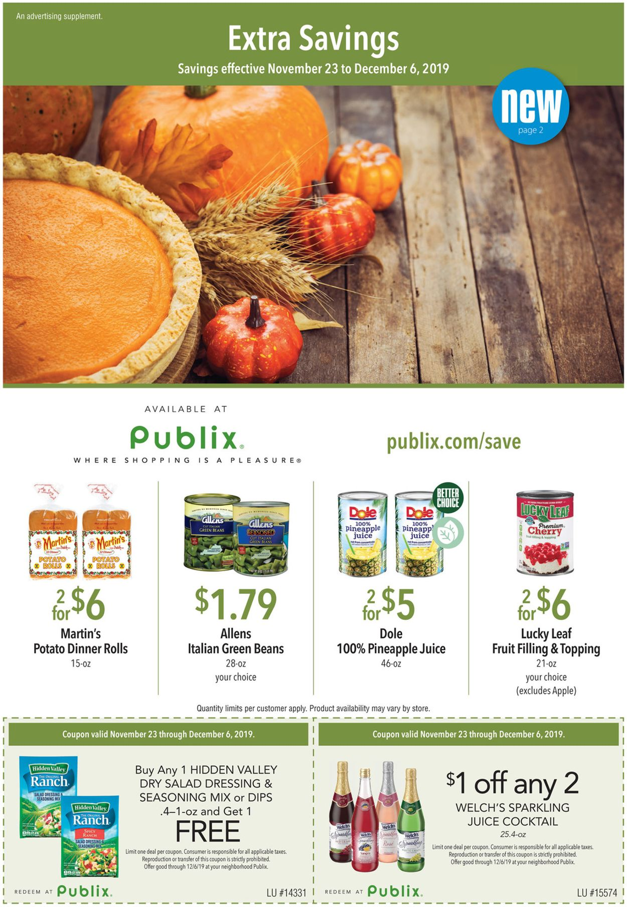Publix Current weekly ad 11/23 - 12/06